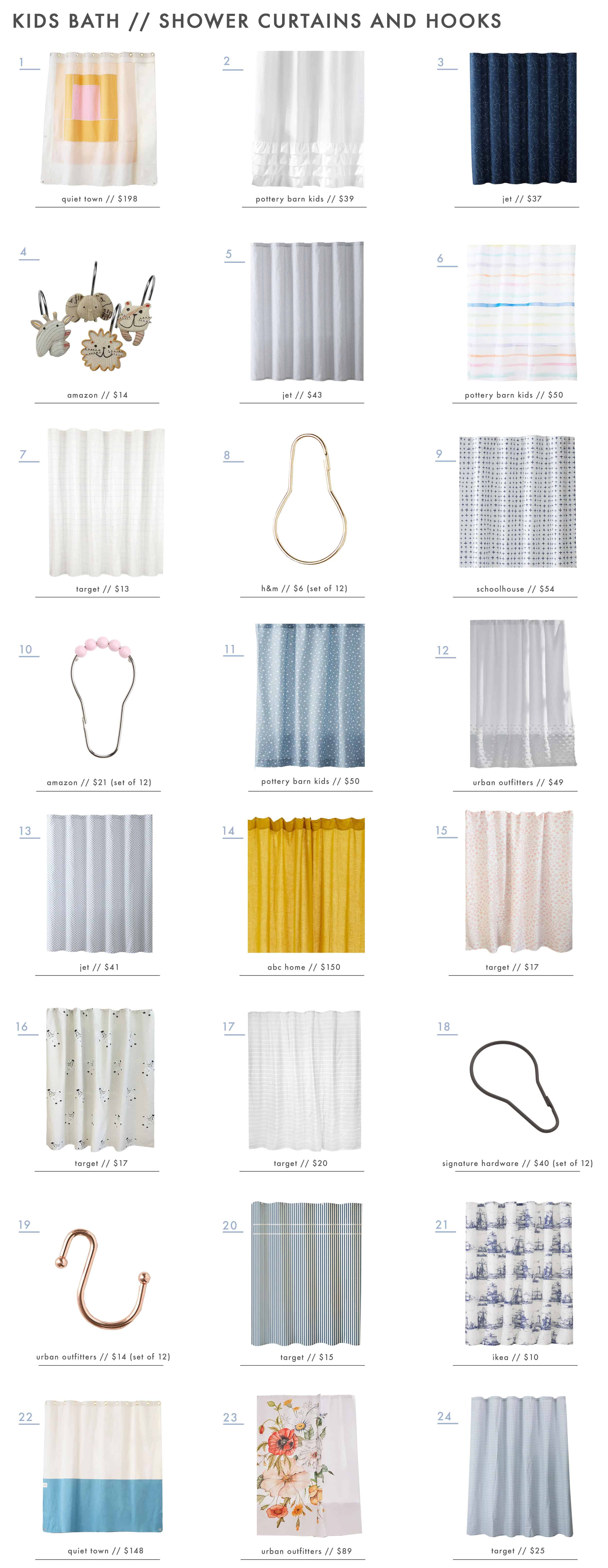 Emily Henderson Kids Bath Decor Accessories Roundup Shower Curtains And Hooks