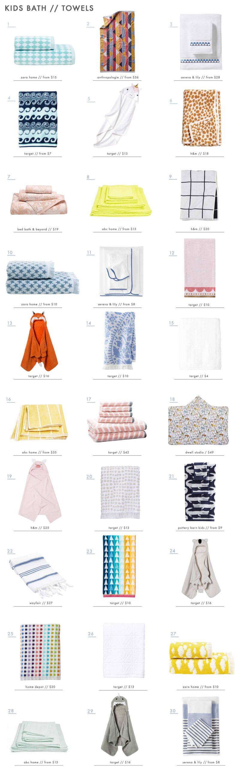Emily Henderson Kids Bath Decor Accessories Roundup Towels