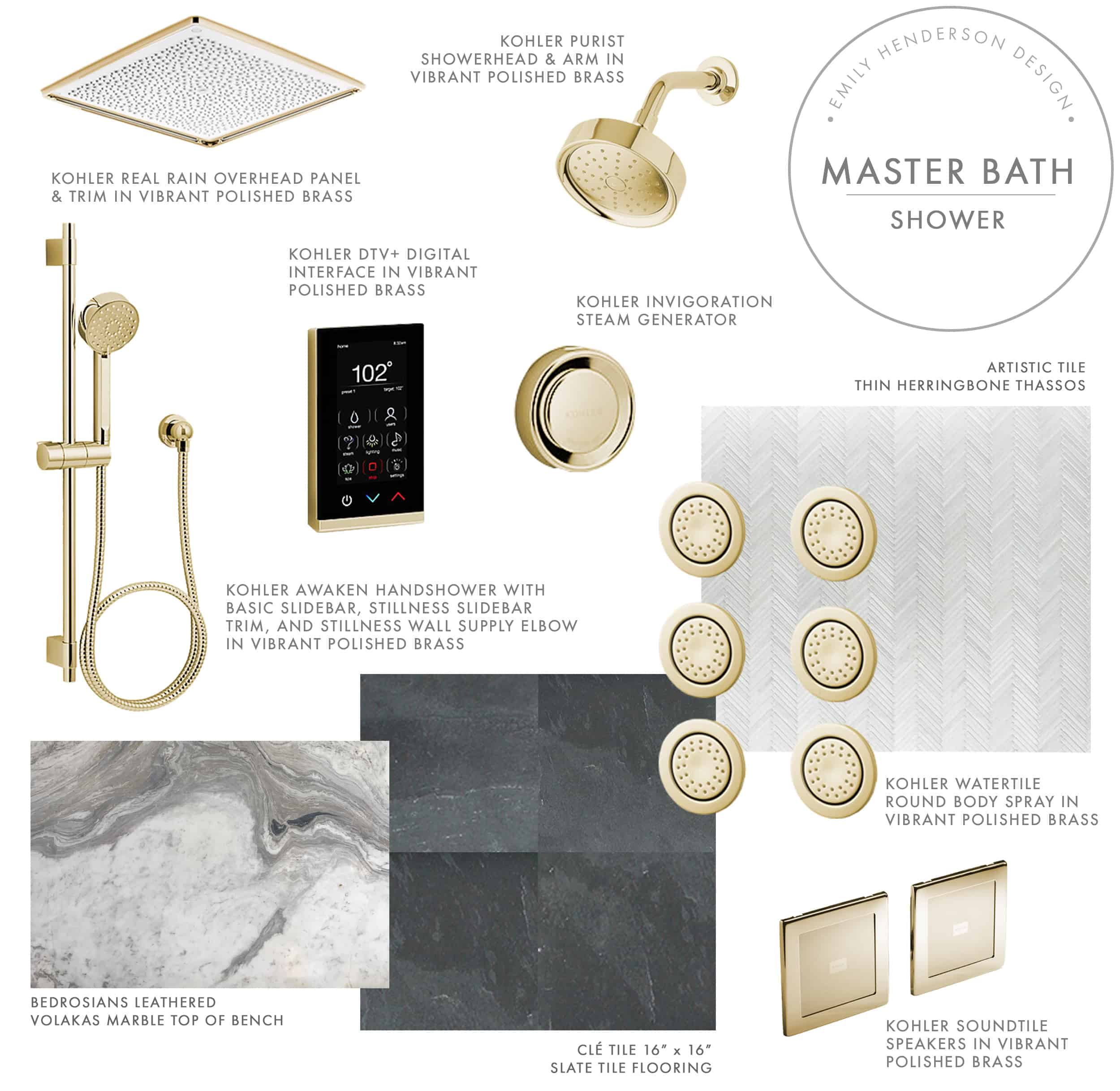 Emily Henderson Mountain Fixer Master Bath Design Plan Product Shower
