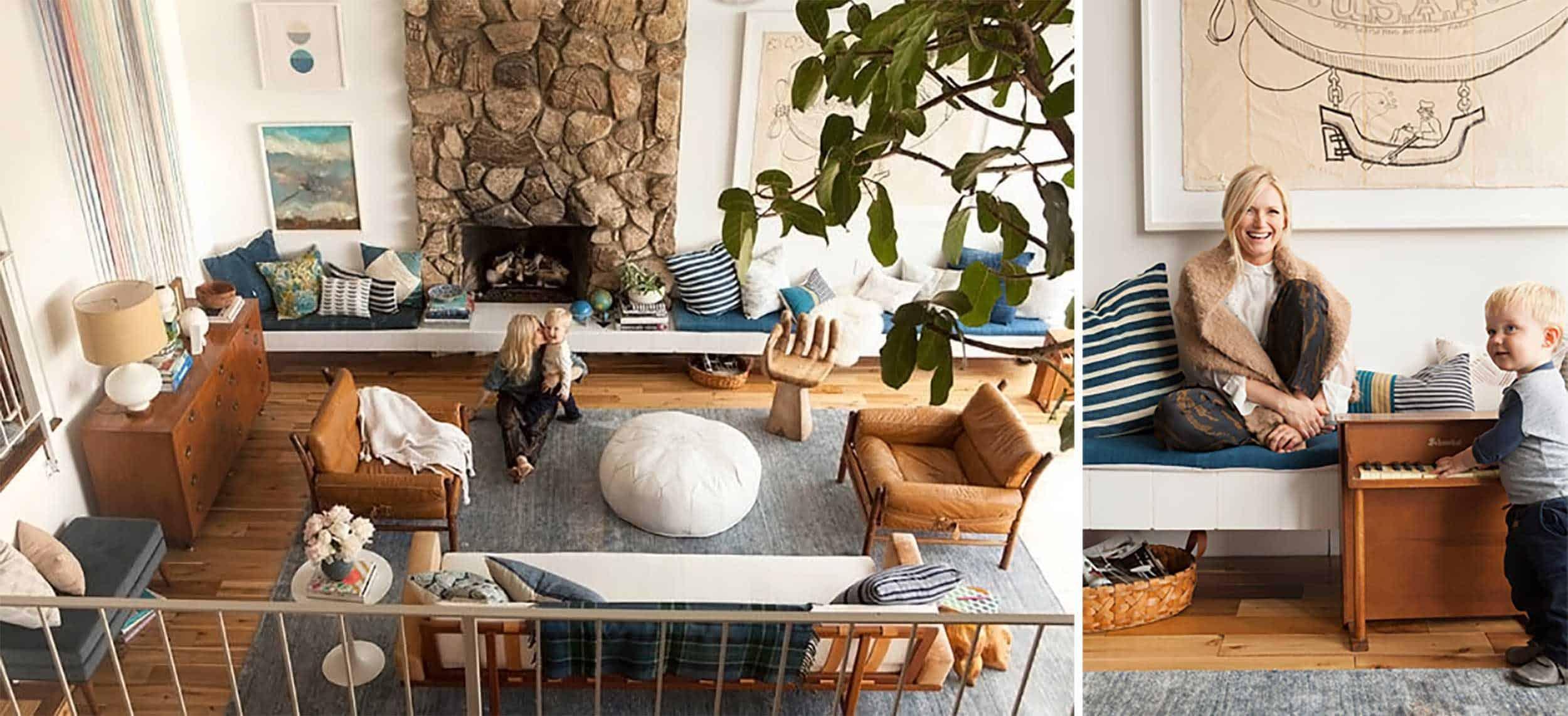 Emily Henderson Mid Century Traditional Living Room