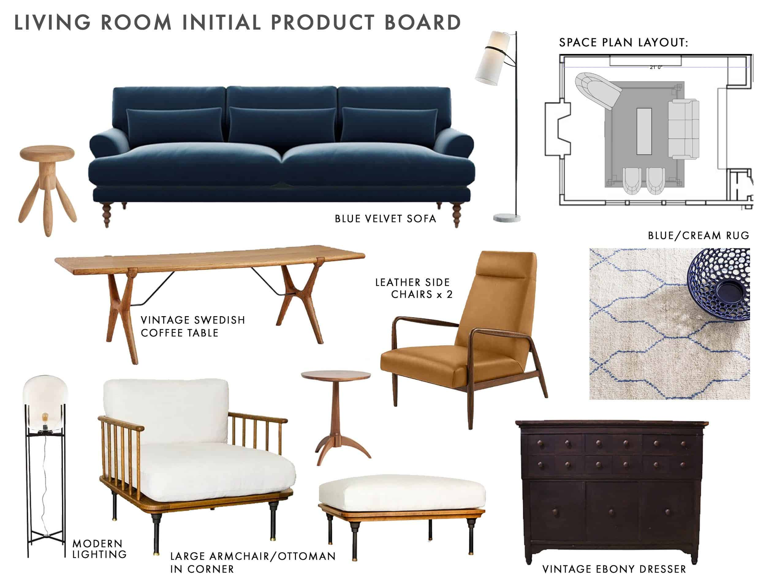 Living Room Initial Product Board