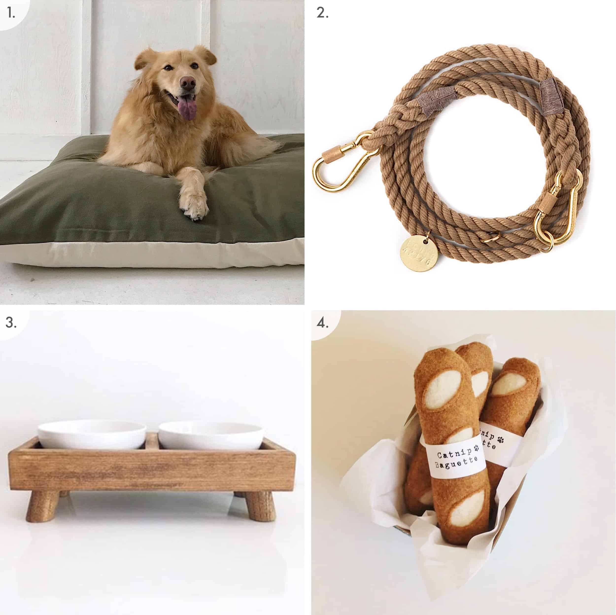 Dog Bed Leash Bowl