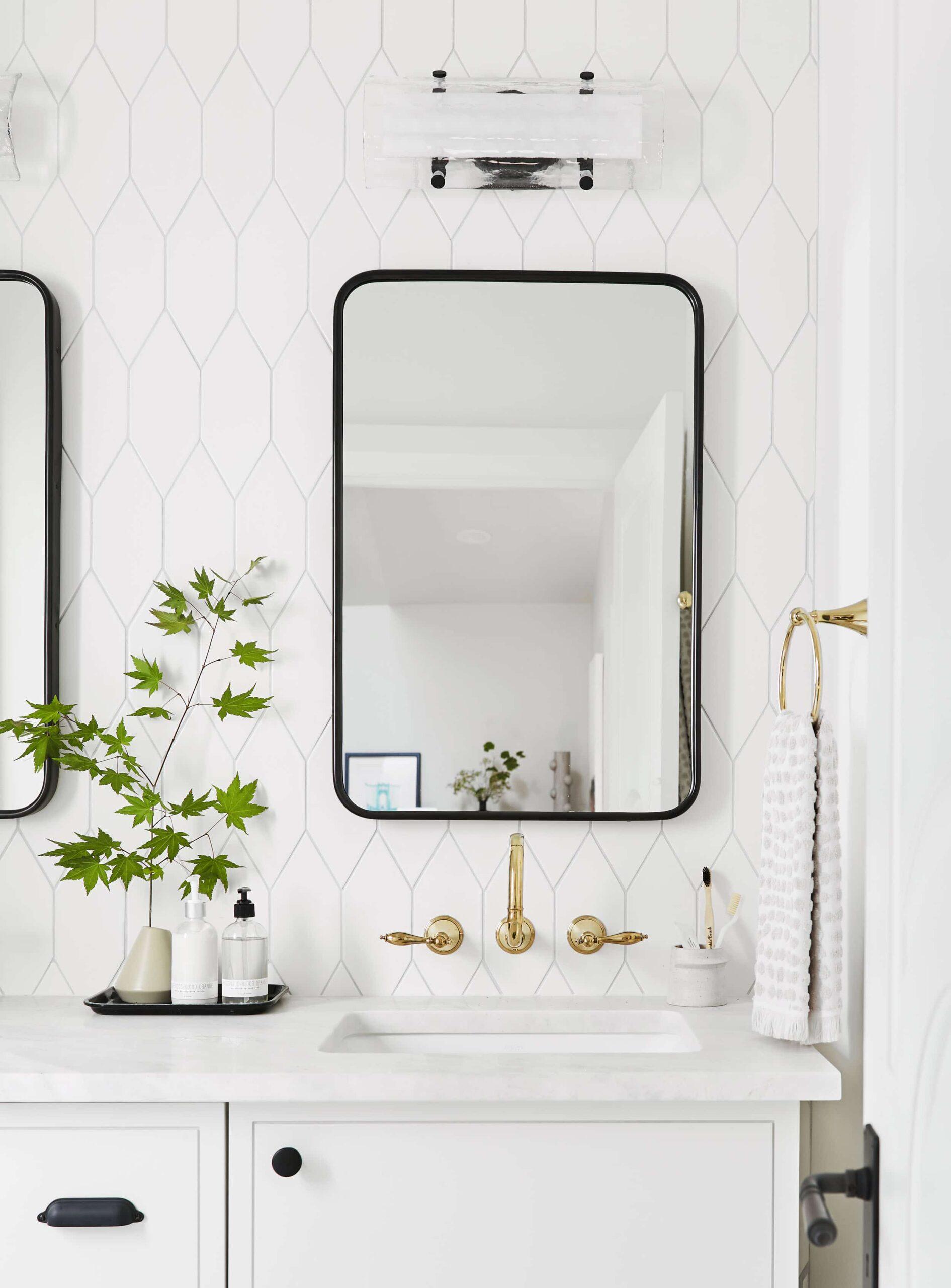 Modern Yet Traditional Guest Bathroom, Bathroom Vanity Portland Oregon
