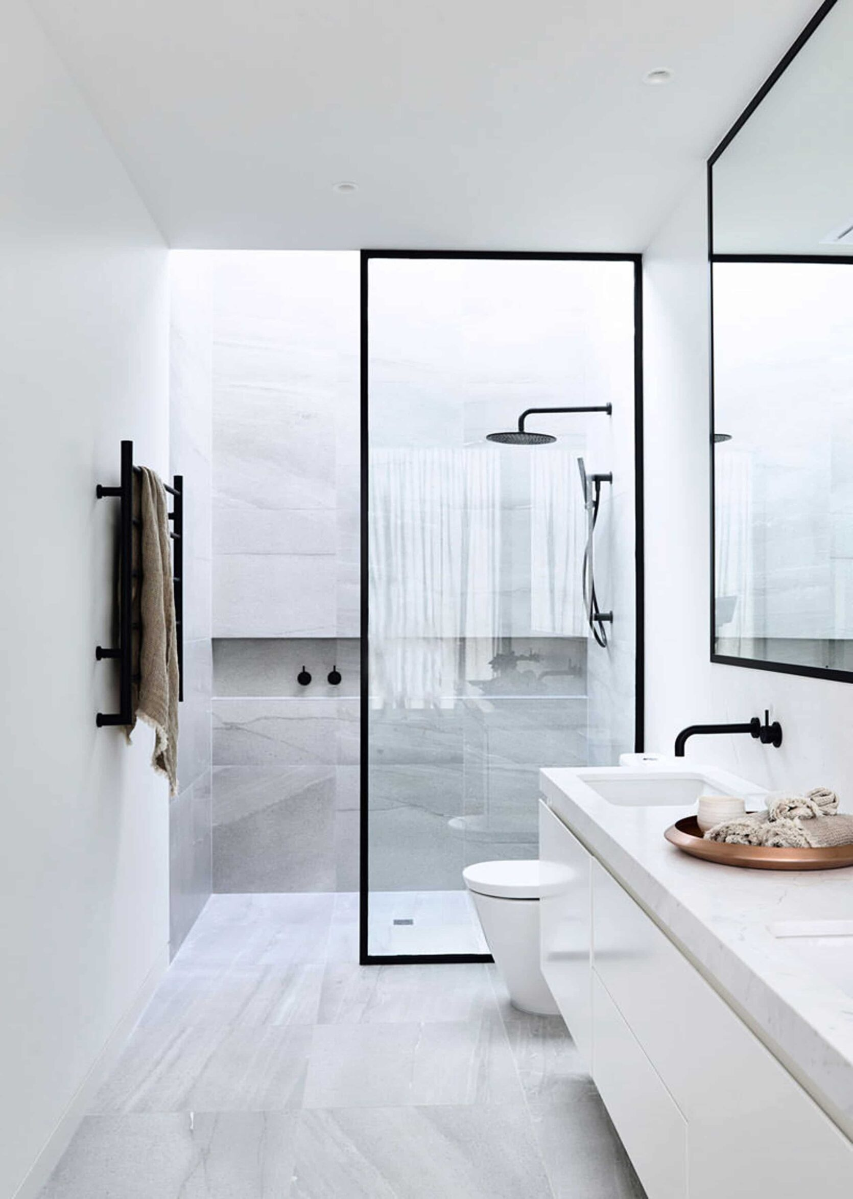 Black Frame Glass Shower Door