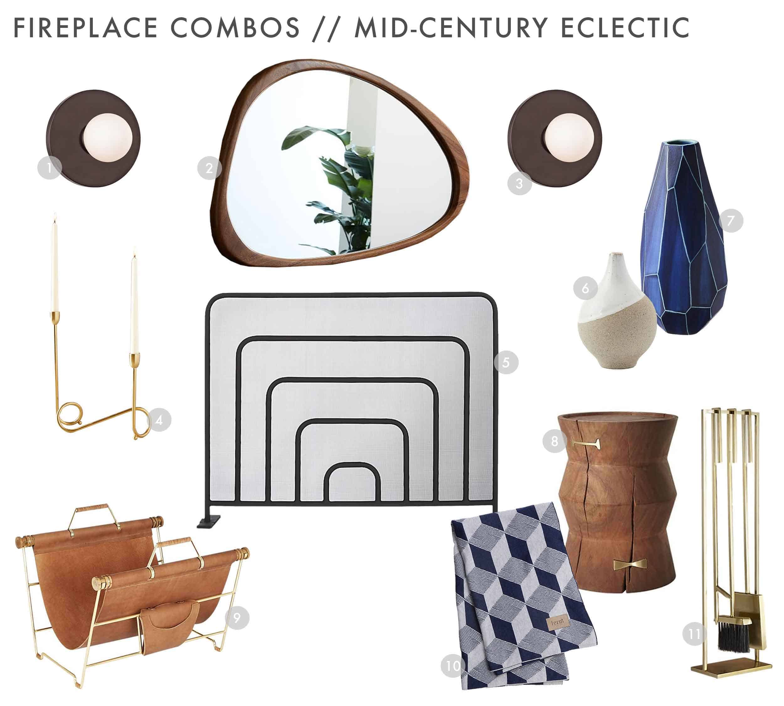 Emily Henderson Design Combos Fireplace Mid Century Eclectic