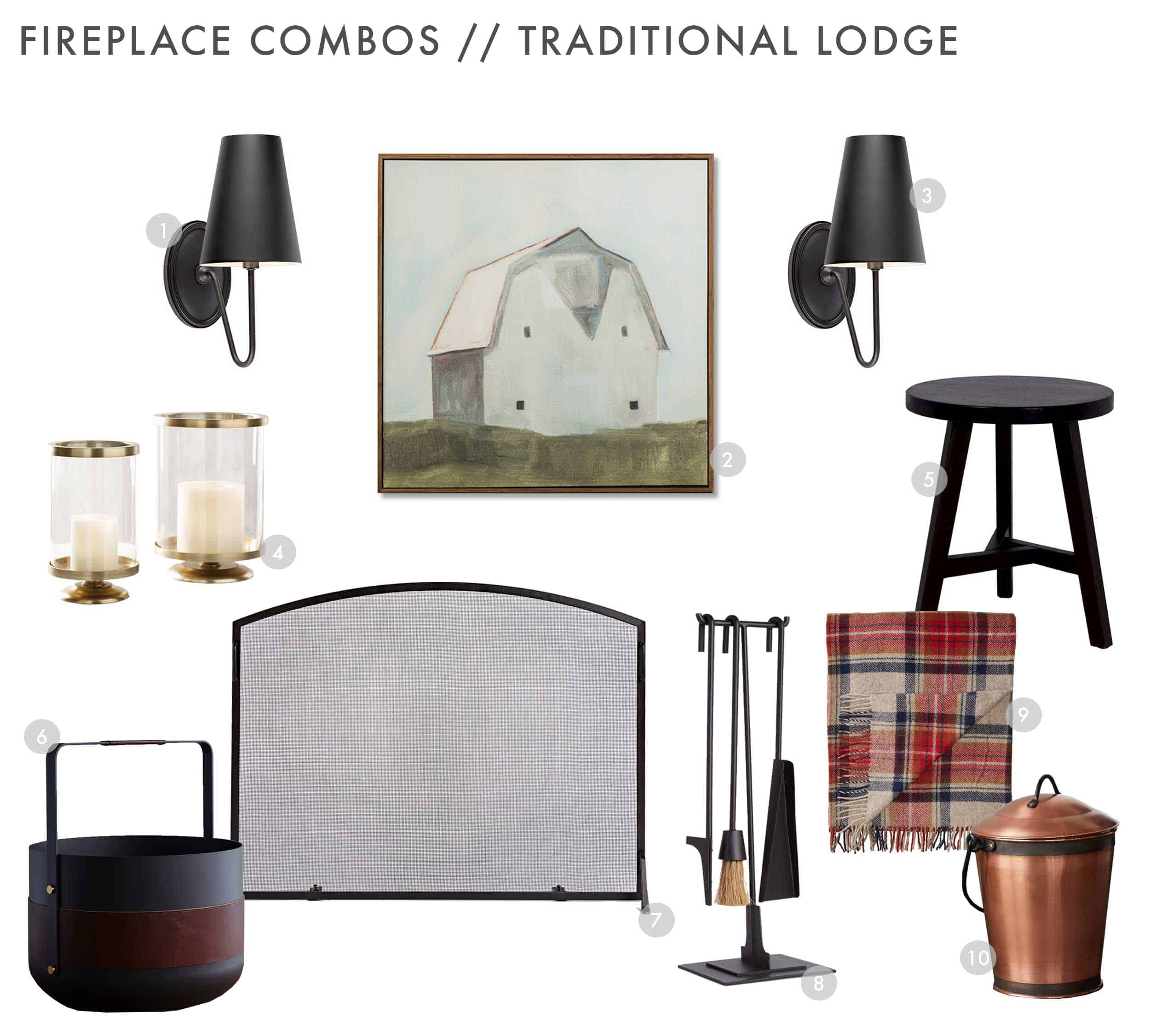Emily Henderson Design Combos Fireplace Traditional Lodge