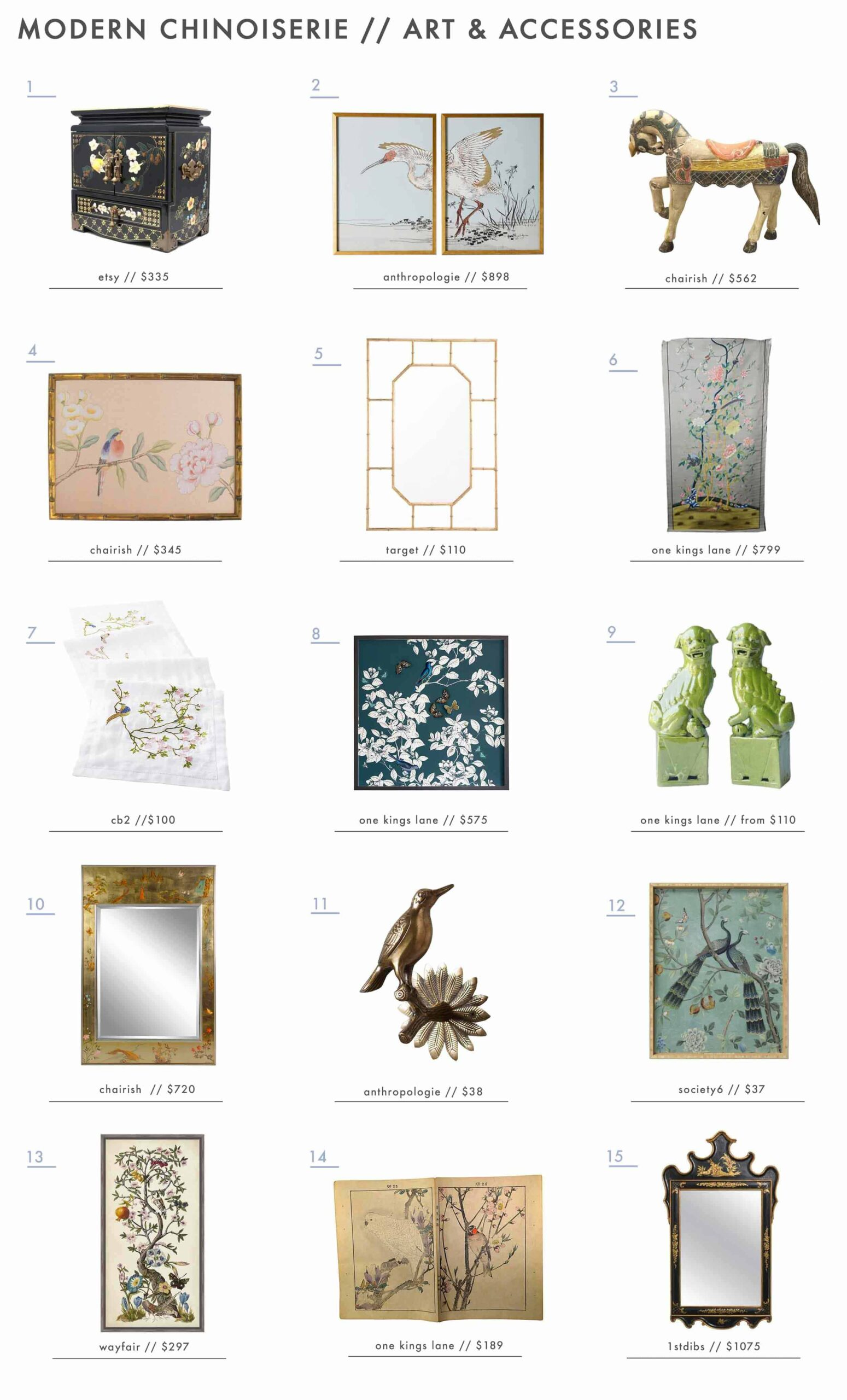 Emily Henderson Design Trends 2018 Modern Chinoiserie Roundup Art Accessories1