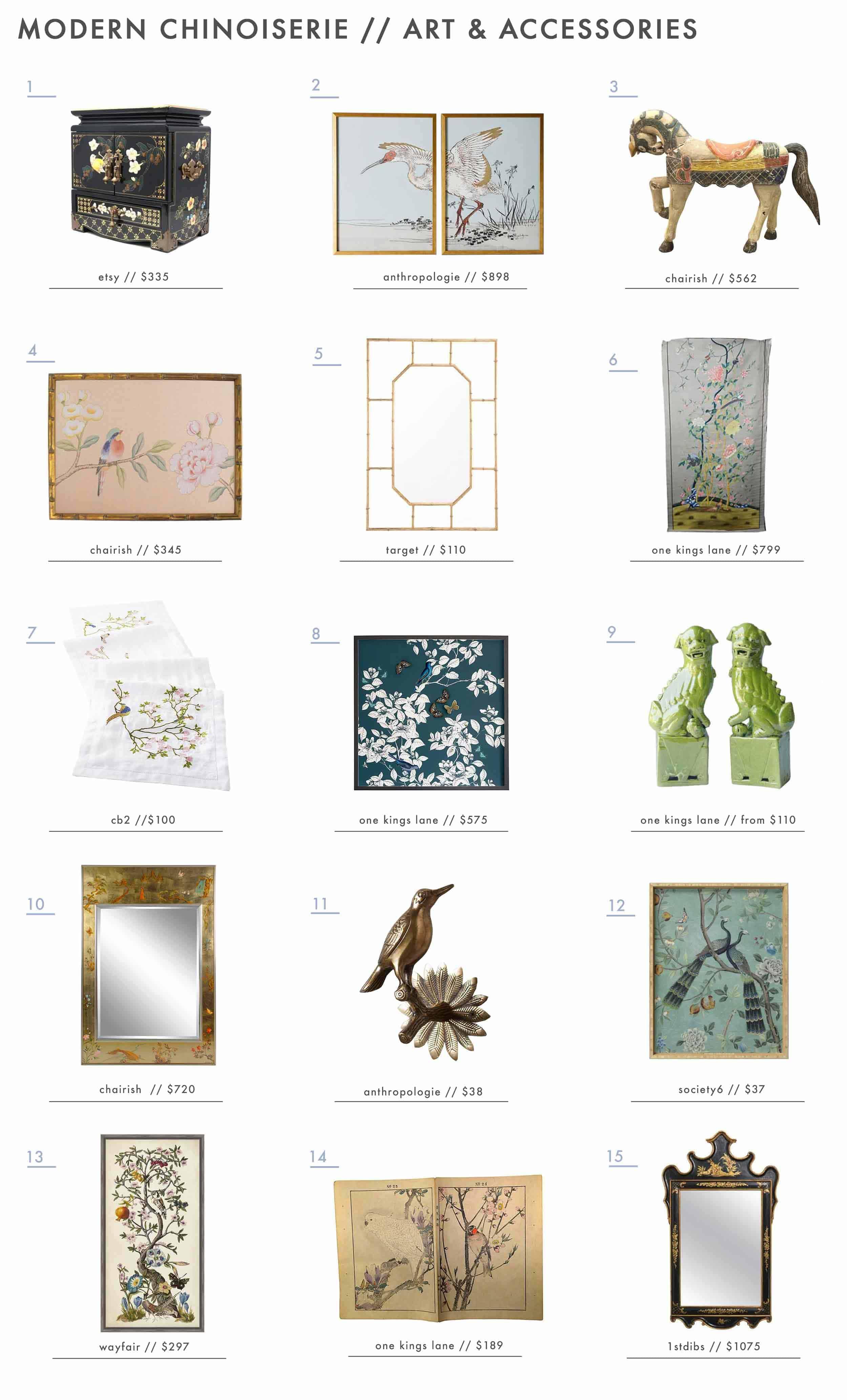 Emily Henderson Design Trends 2018 Modern Chinoiserie Roundup Art Accessories1