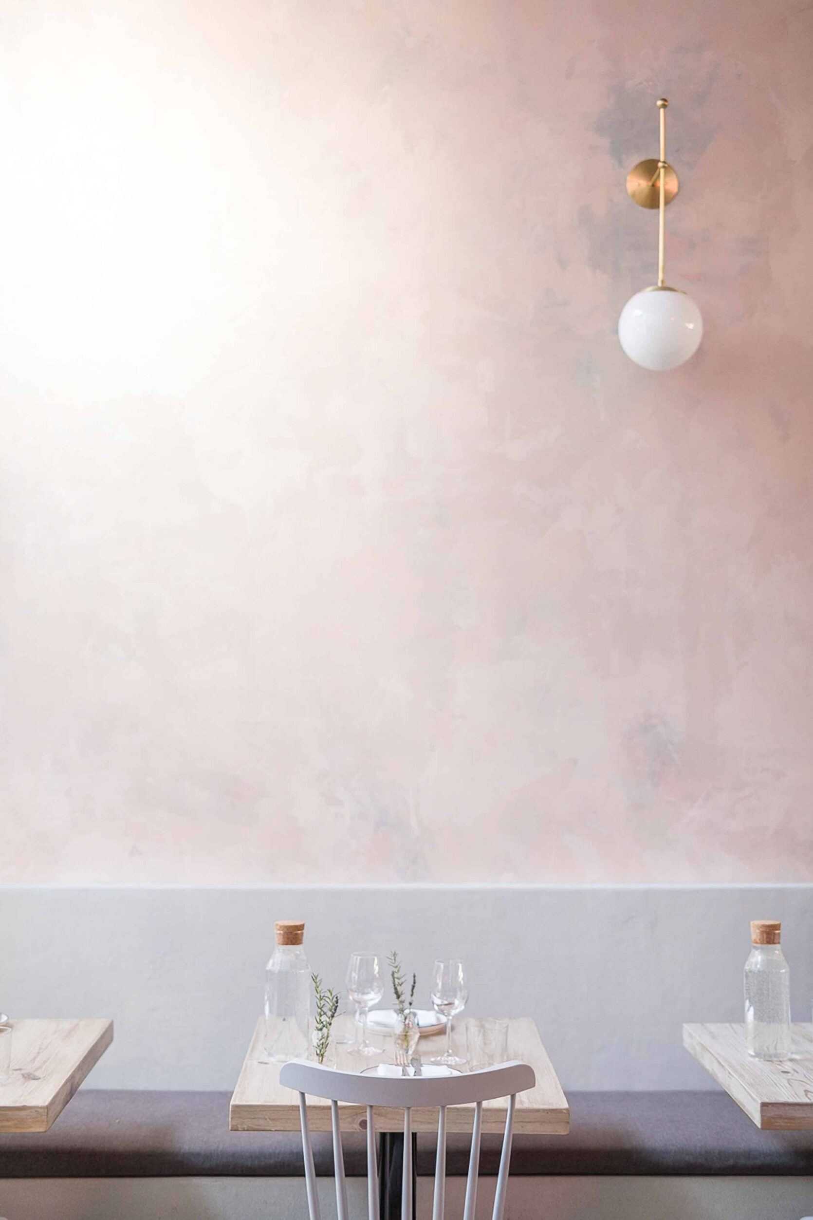 Blush Plaster Walls