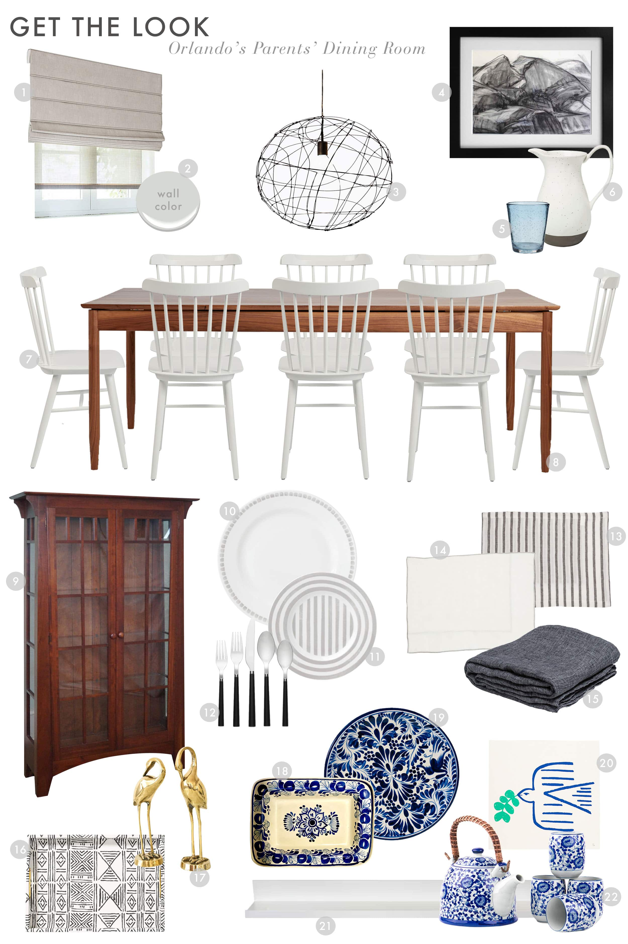 Get The Look Orlandos Parents Dining Room Reveal