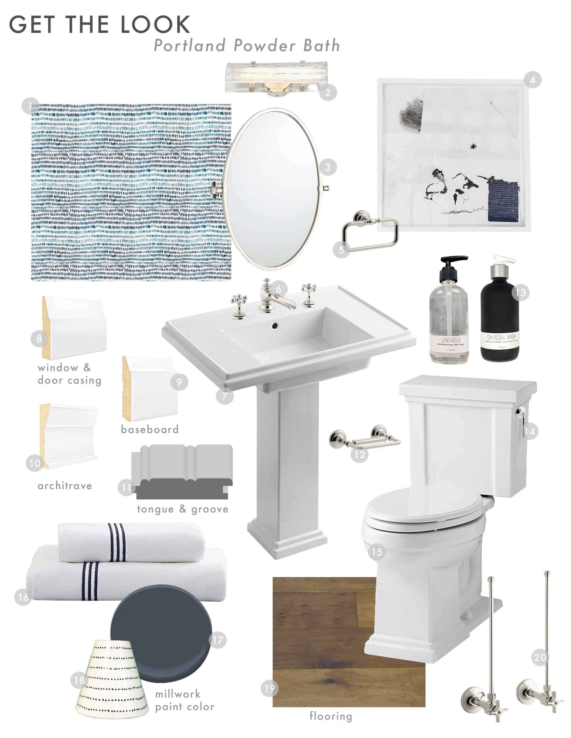 Emily Henderson Design Portland Traditional Powder Bath Reveal Get The Look 11