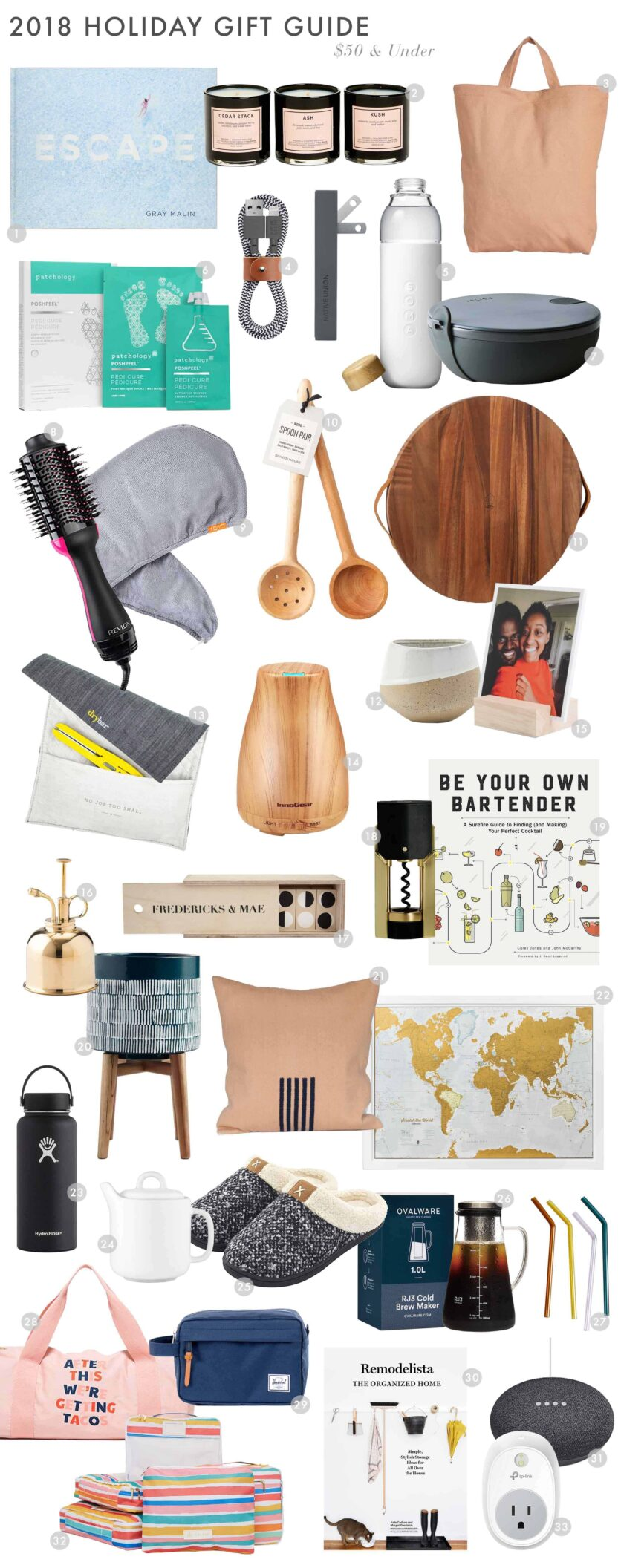 Emily Henderson 2018 Holiday Gift Guide 50 Under Roundup