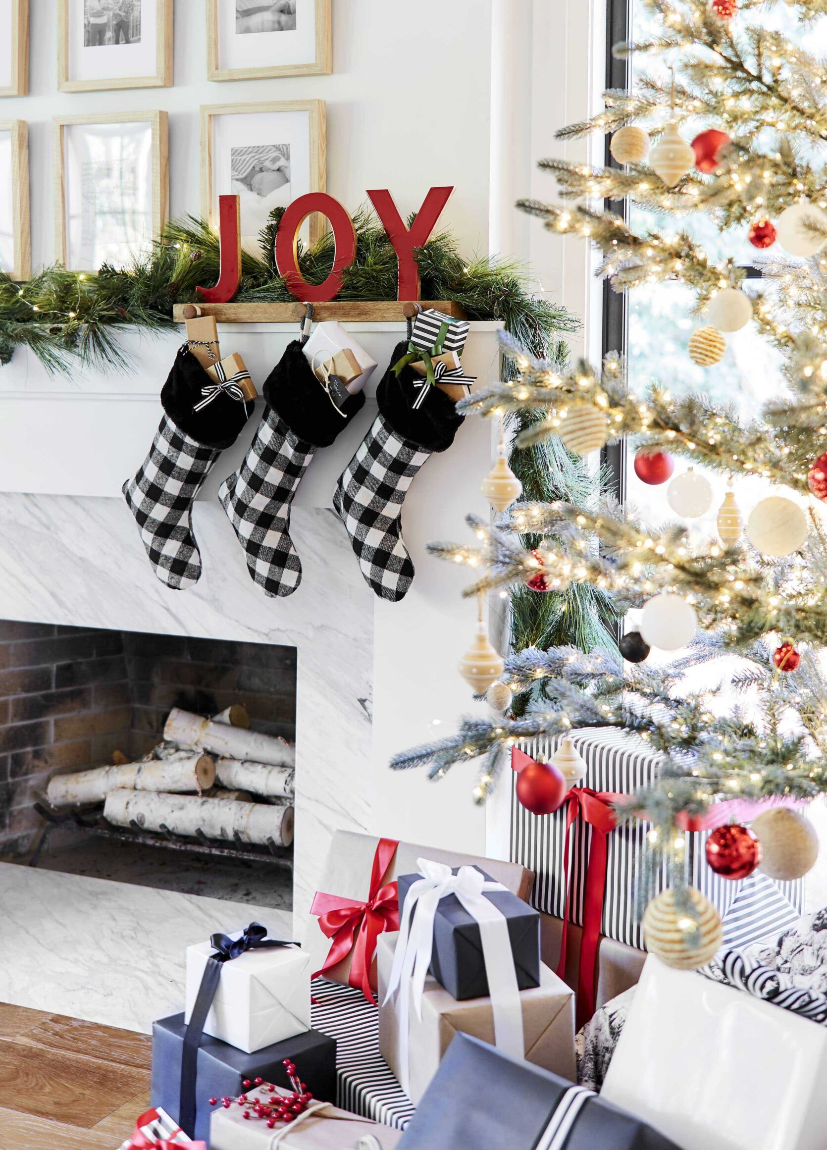 Emily Henderson 2018 Holiday Styling Fireplace 5