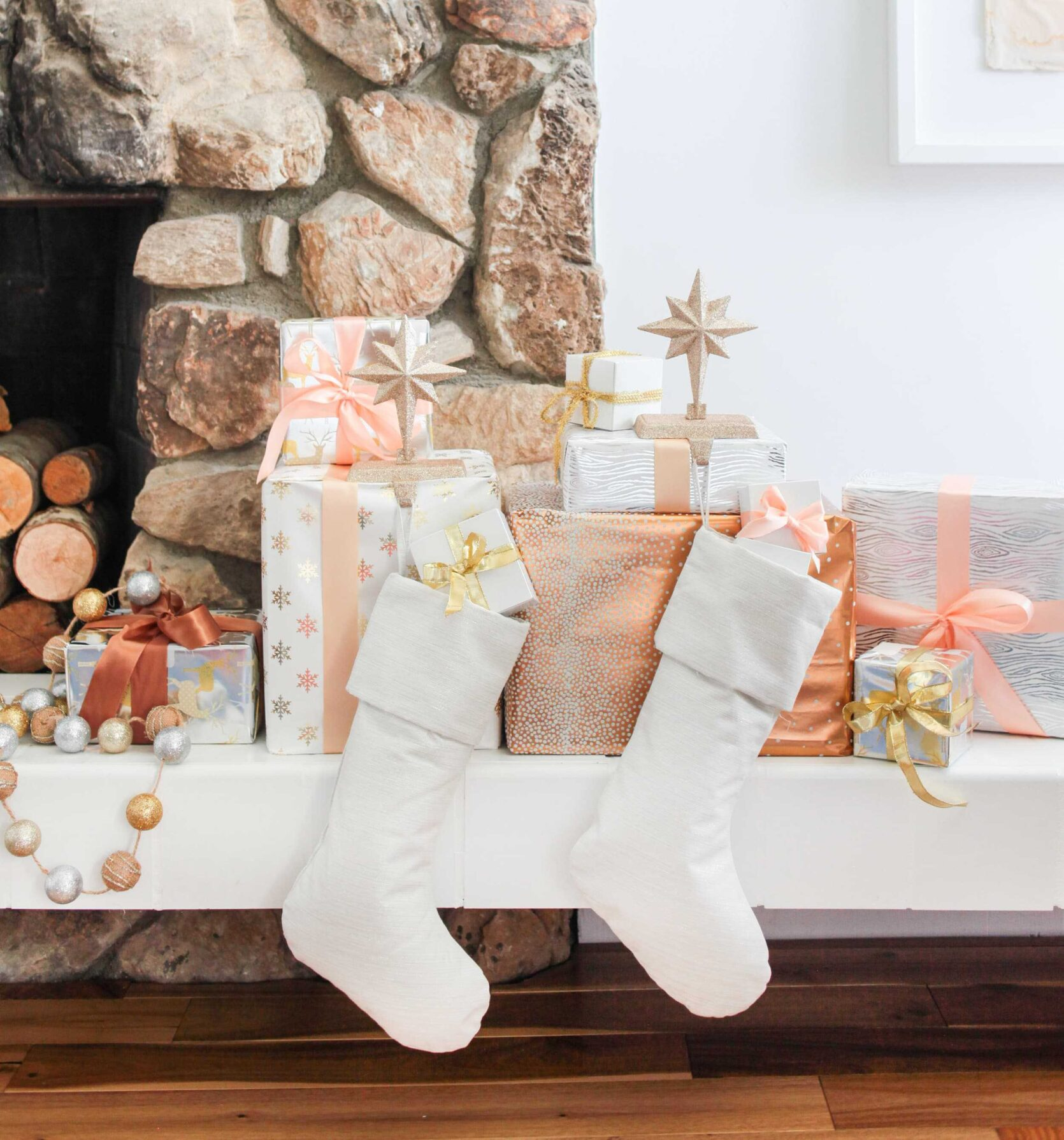 Emily Henderson 2018 Holiday Styling Fireplace 6