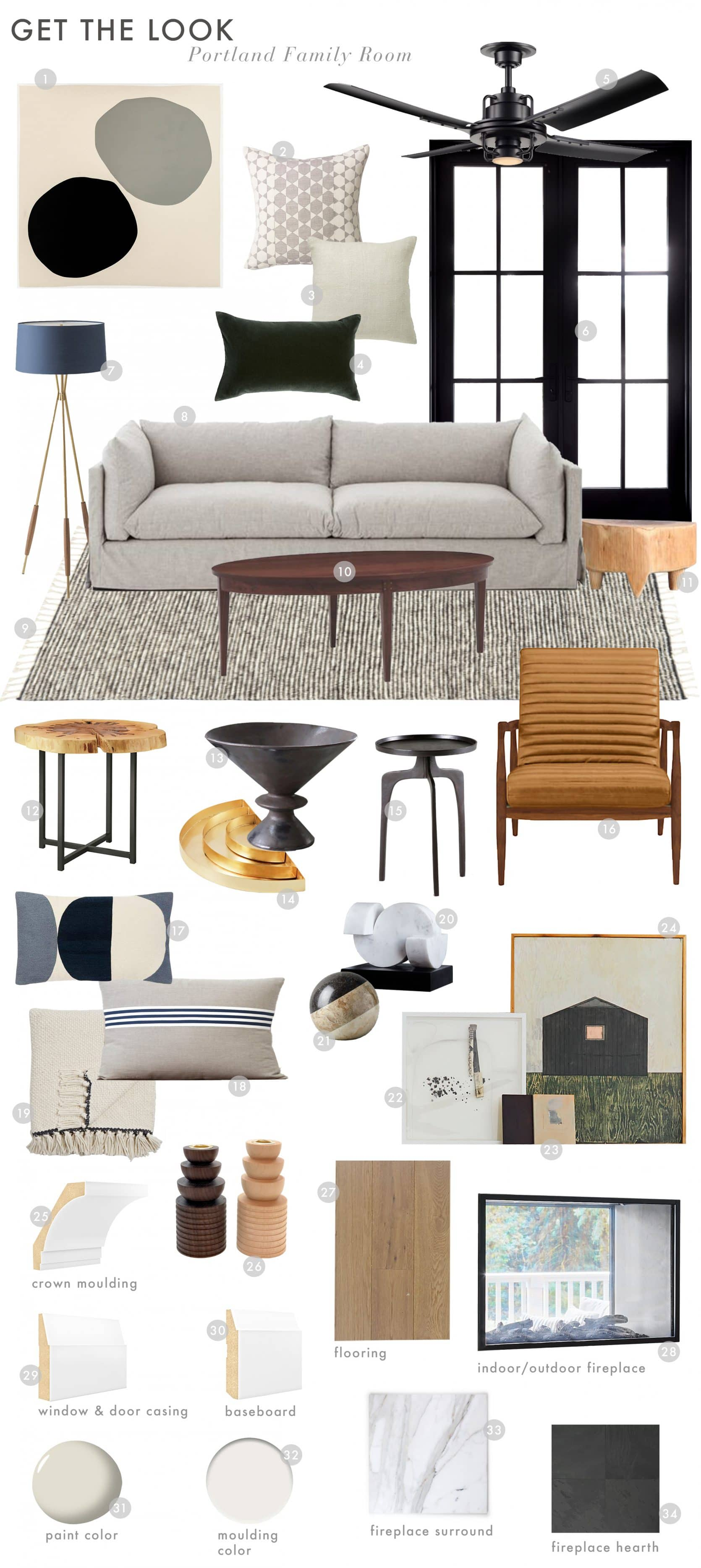 Emily Henderson Portland Project Reveal Family Room Get The Look
