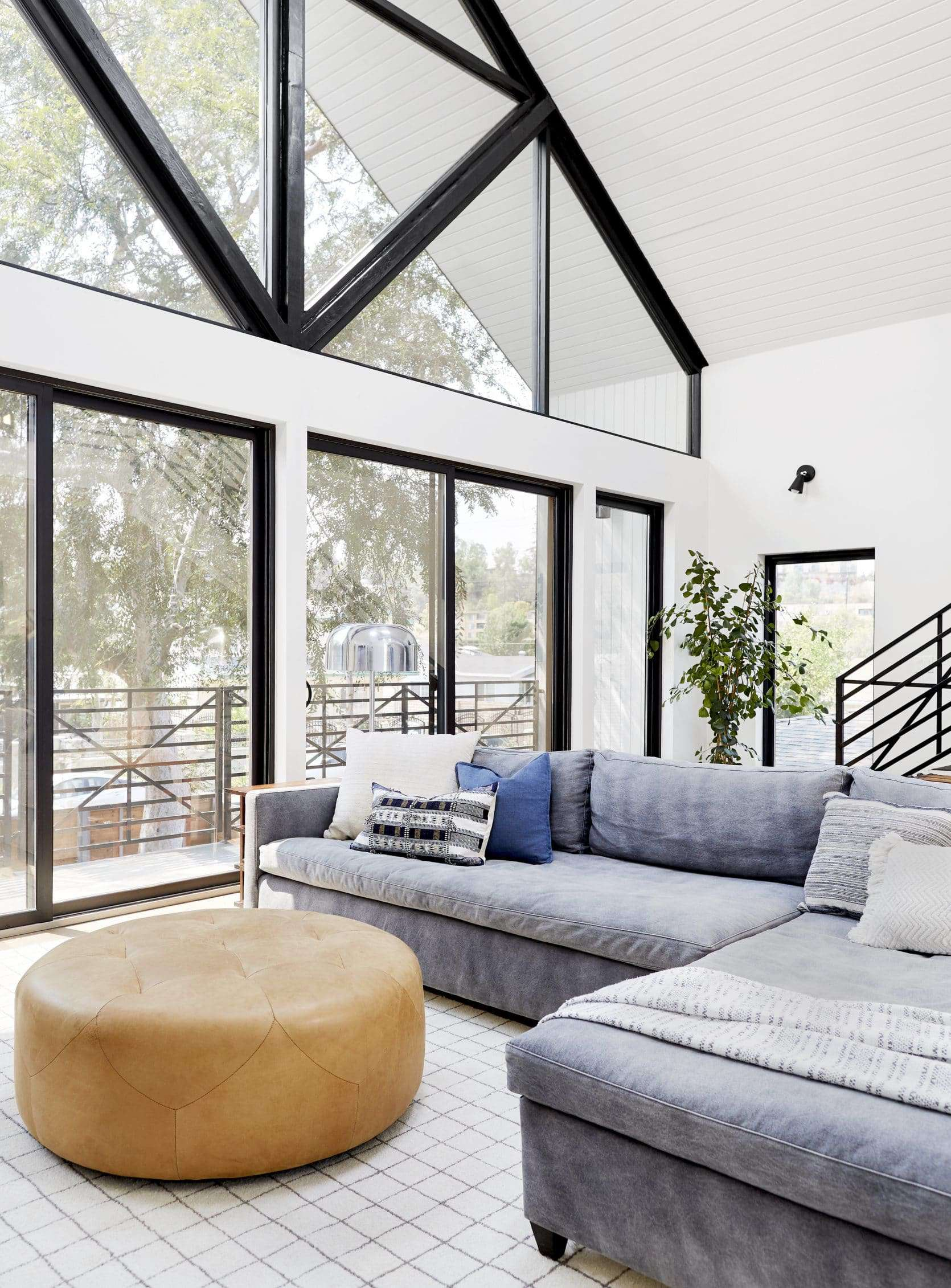 Bright Modern Kid Friendly Cozy Comfortable Family Tv Room Emily Henderson4