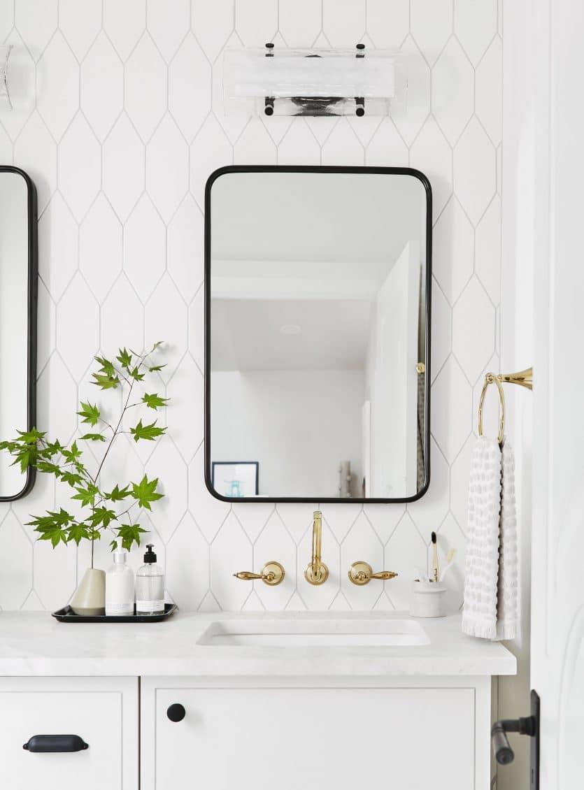 Emily Henderson Portland Traditional Upstairs Hallway Bathroom1