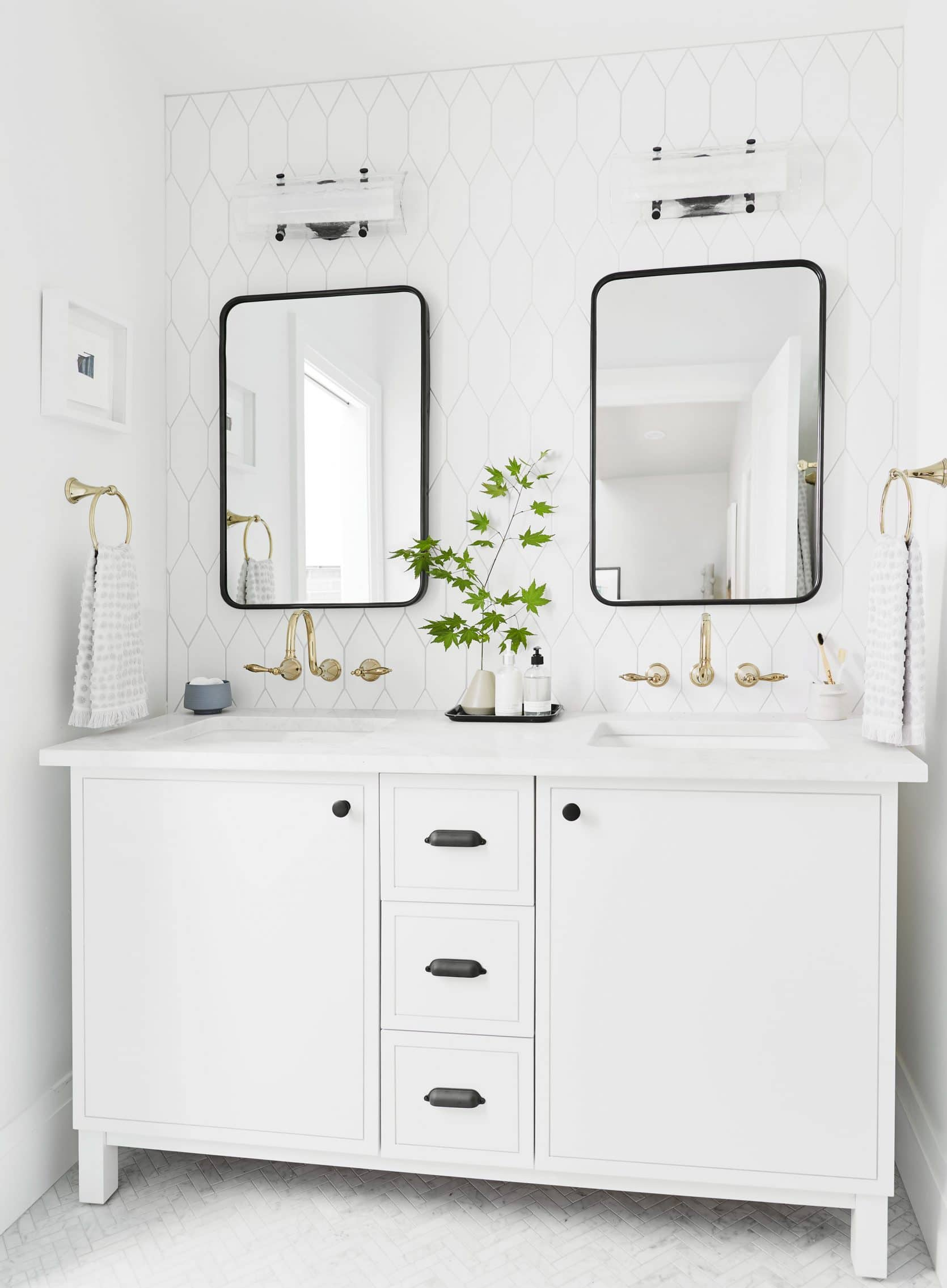Portland Reveal How I Designed A Modern Yet Traditional Guest Bathroom