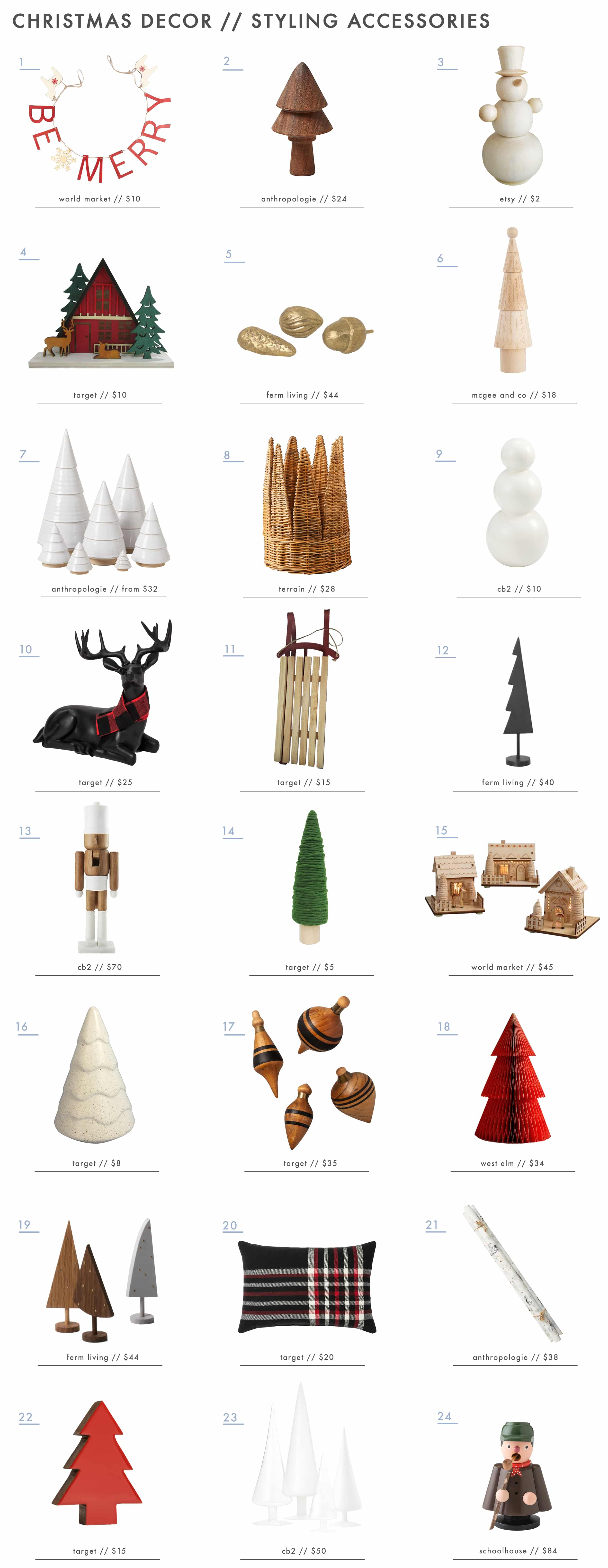 Emily Henderson Holiday Decor Accessories Roundup