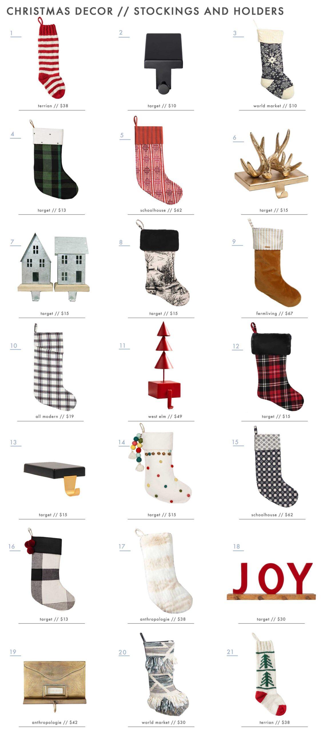 Emily Henderson Holiday Decor Stockings Stocking Holders Roundup 1