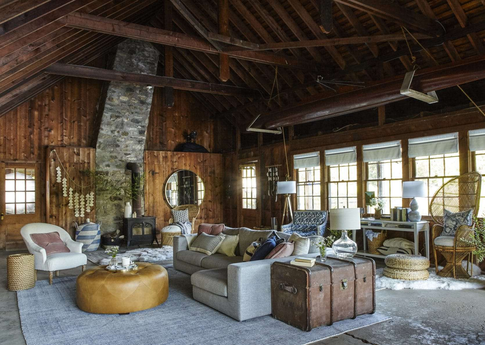 Emily Henderson Samsung The Frame Boathouse Renovation Makeover Lake House Country Rustic 1