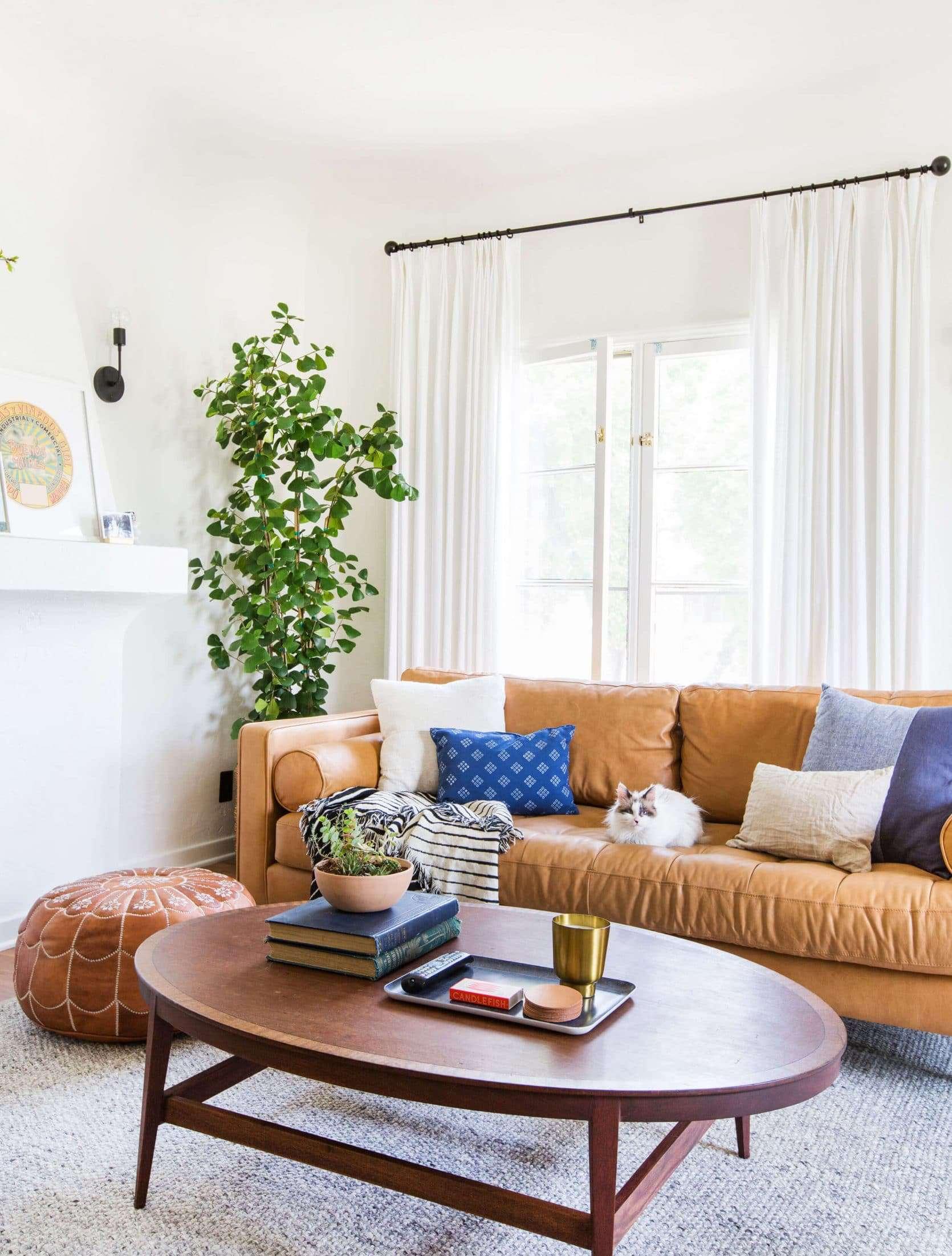 Emily Henderson Sara Moto Neutral Cozy Masculine Living Room 2