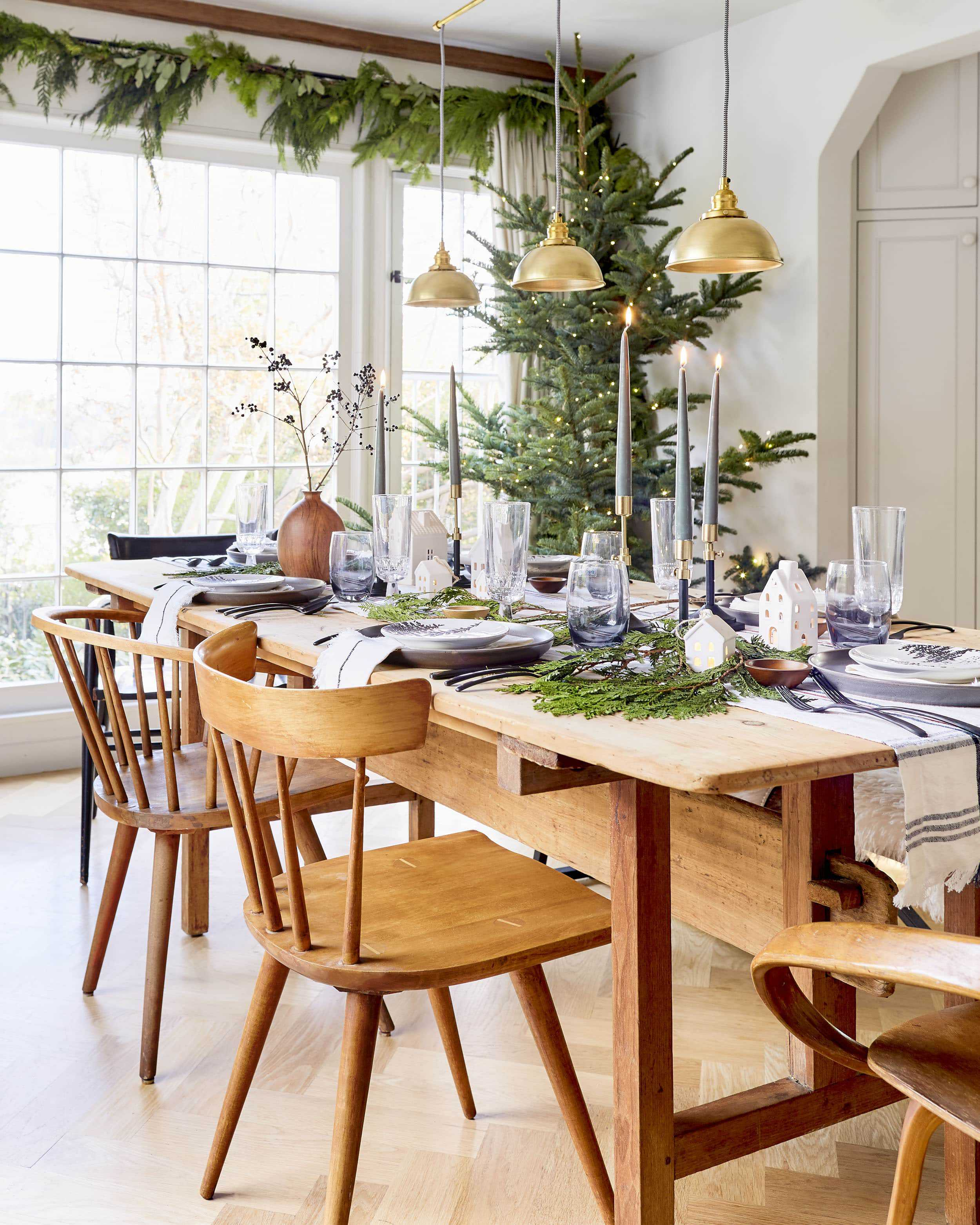 Emily Henderson House Beautiful Holiday Tablescape 1