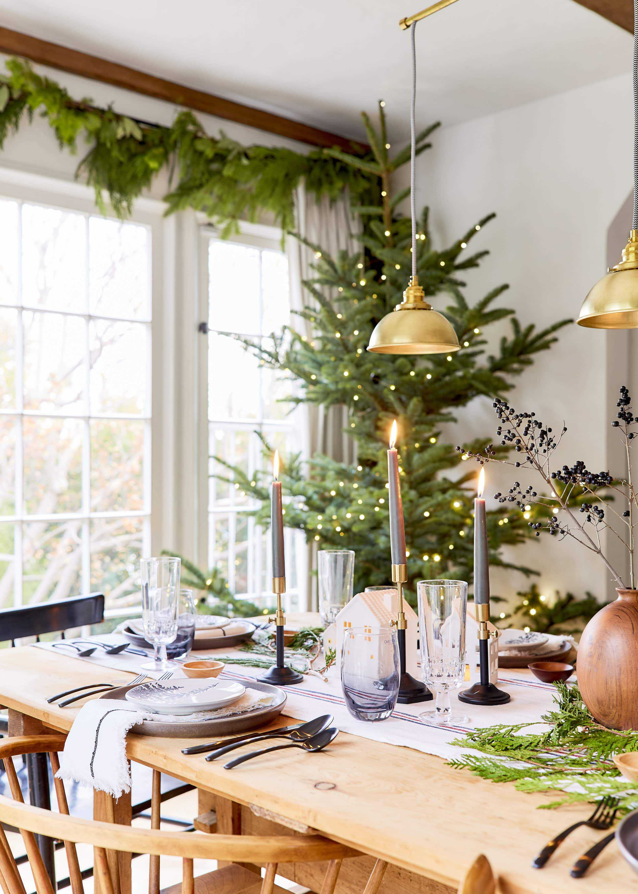 Emily Henderson House Beautiful Holiday Tablescape 10