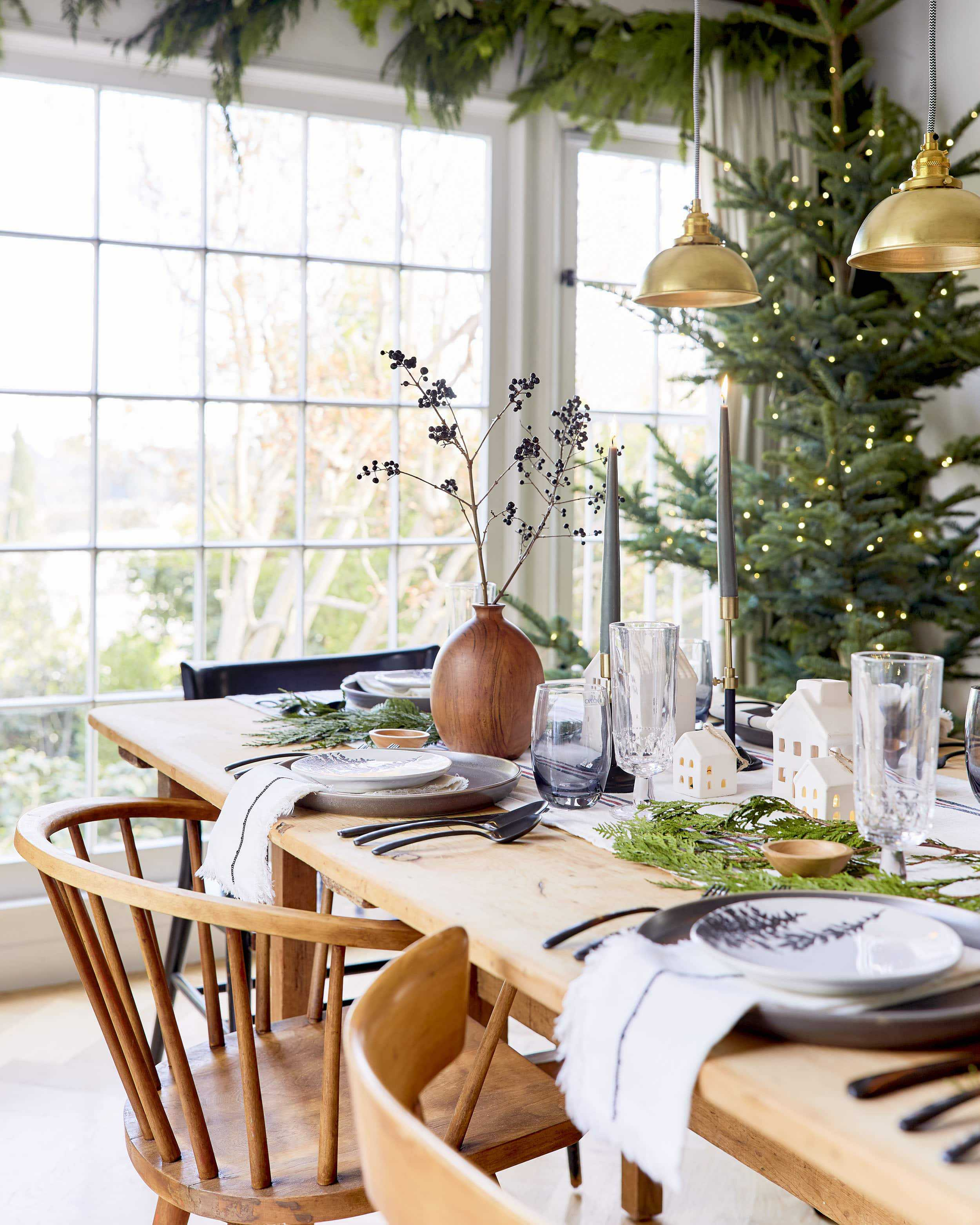 Emily Henderson House Beautiful Holiday Tablescape 2