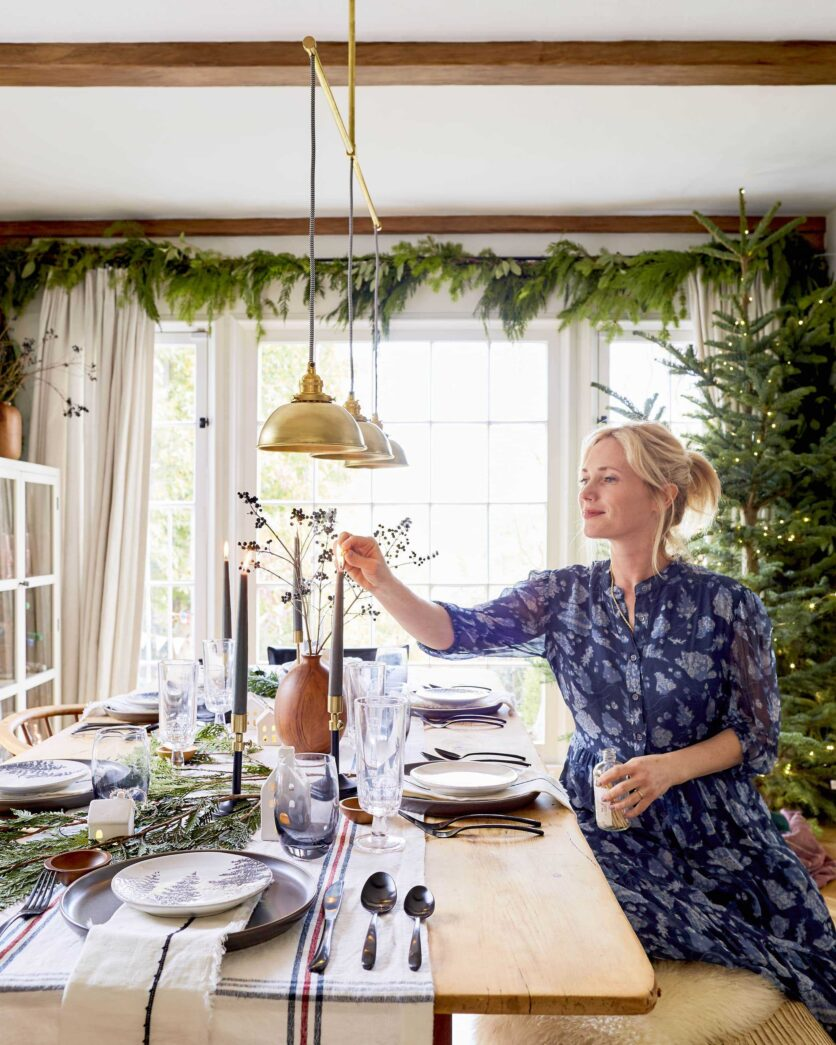 Emily Henderson House Beautiful Holiday Tablescape 4