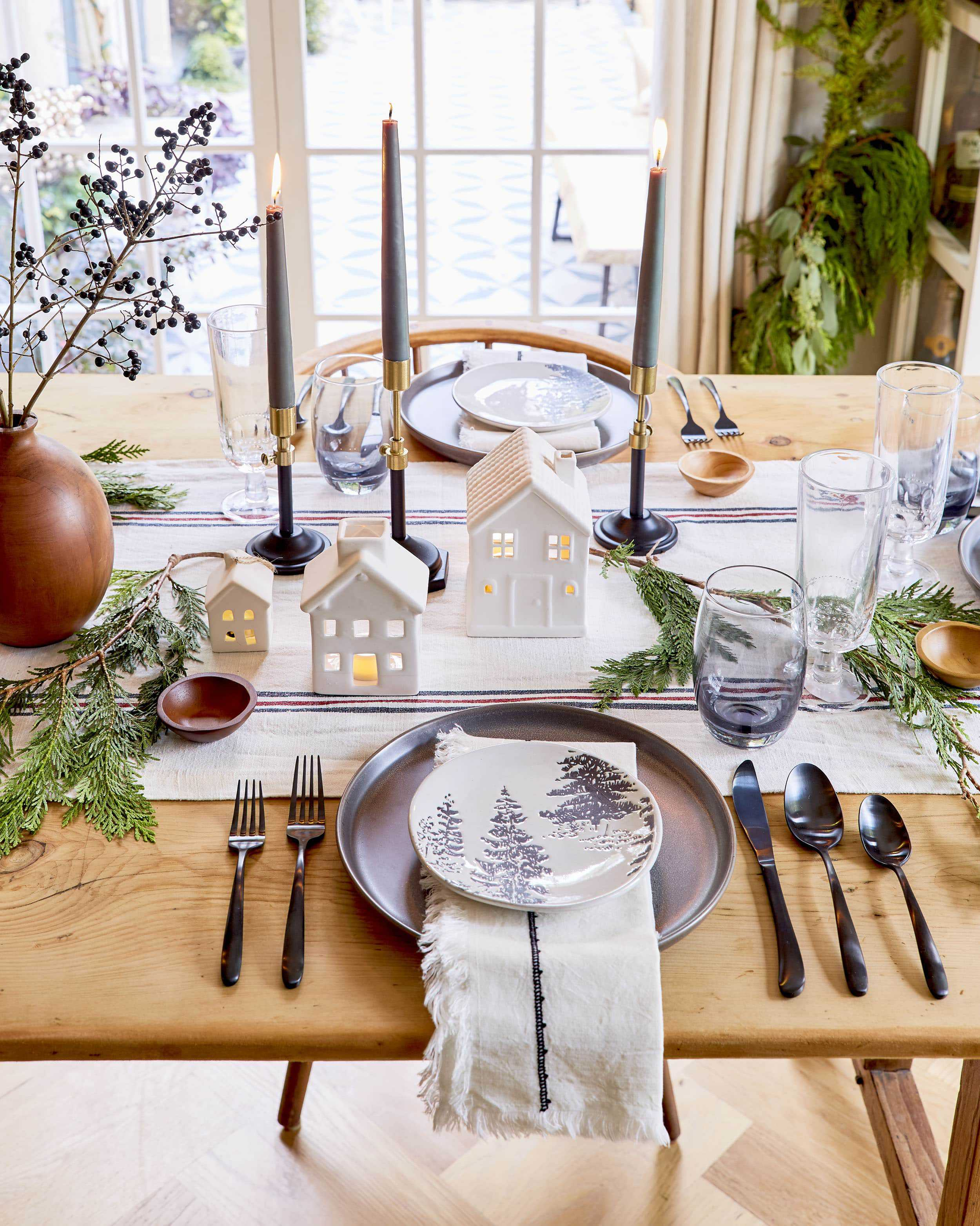 Emily Henderson House Beautiful Holiday Tablescape 6
