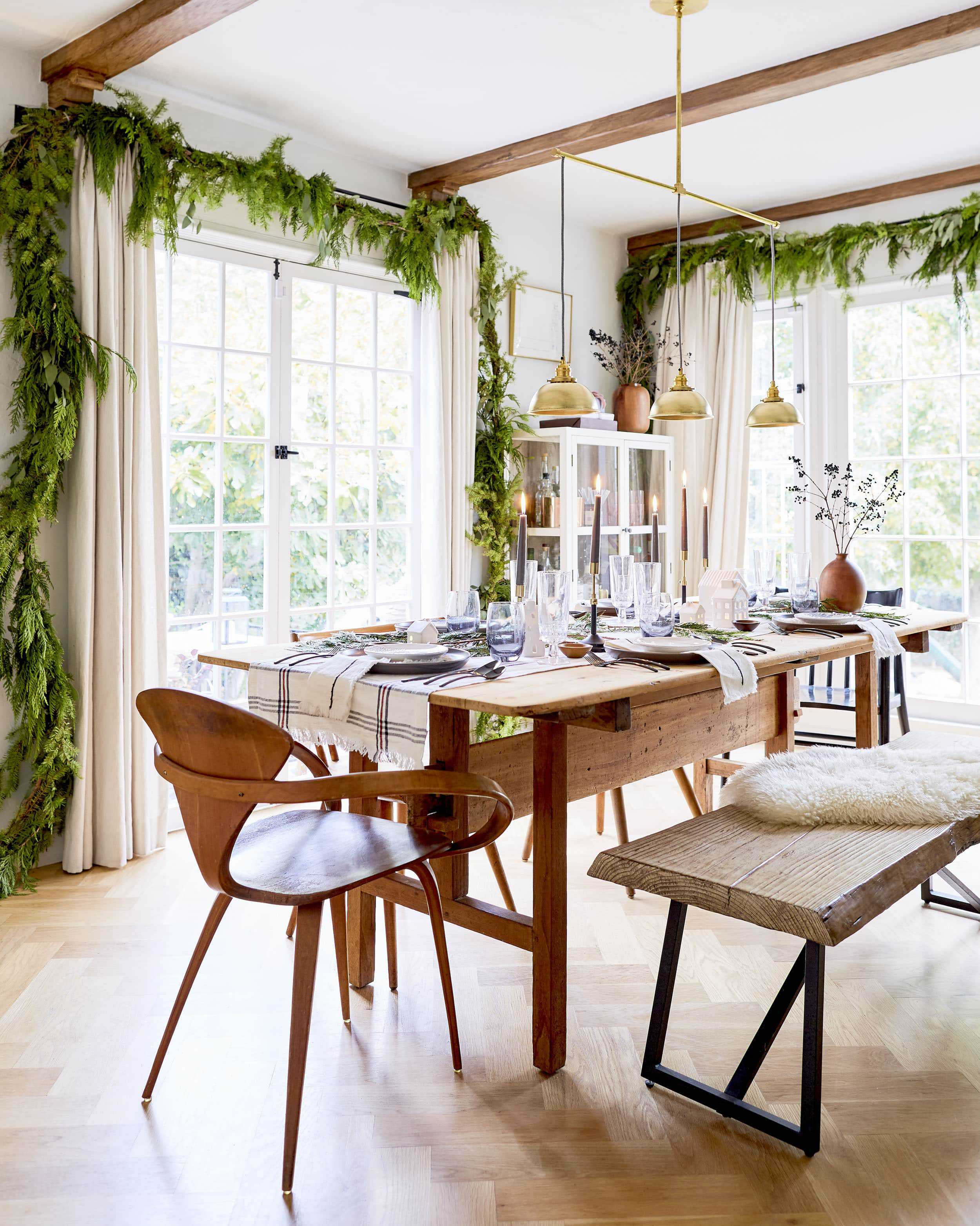 Emily Henderson House Beautiful Holiday Tablescape 8