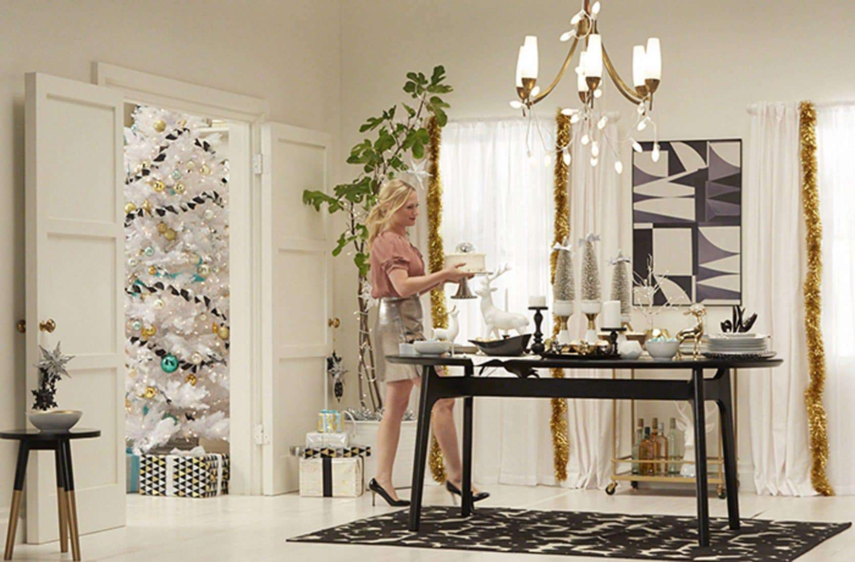 Target Holiday Black White Gold Dining Room Emily Overall