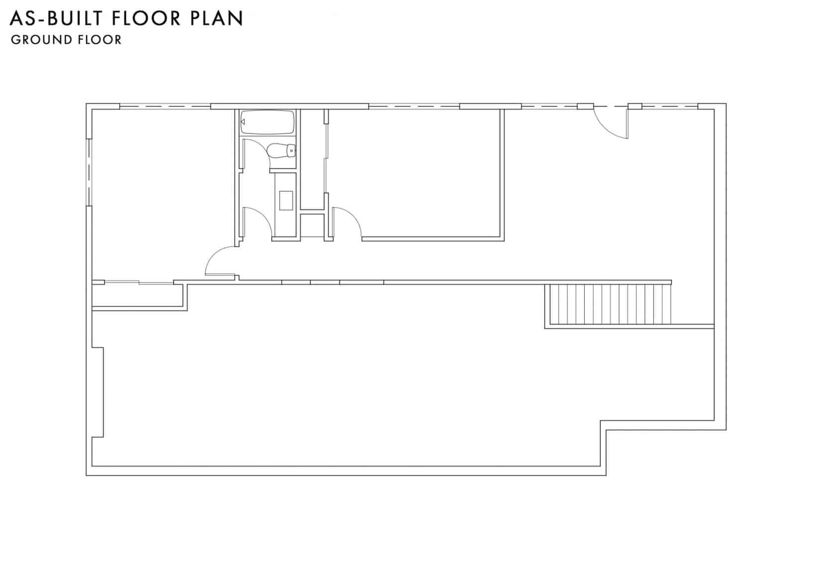 As Built Floor Plan Ground Floor