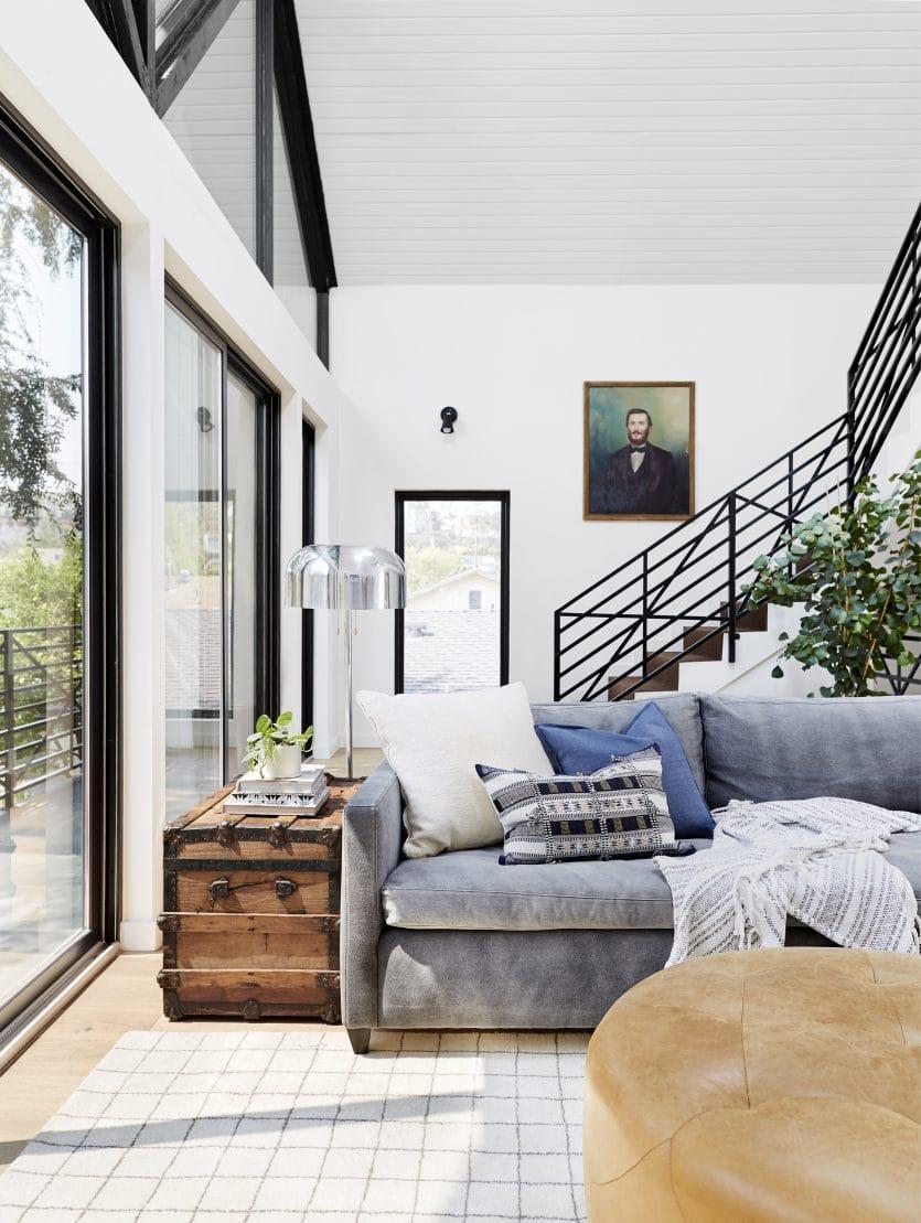 Bright Modern Kid Friendly Cozy Comfortable Family Tv Room Emily Henderson6