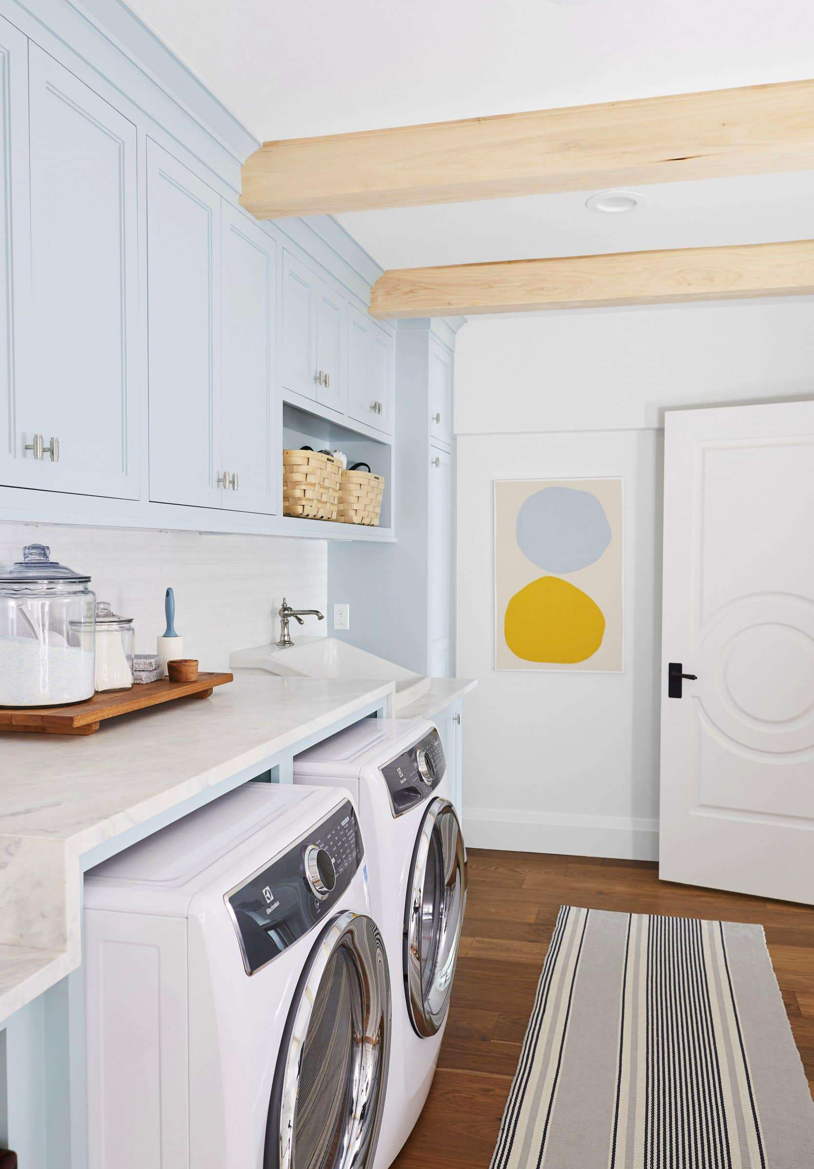 Emily Henderson laundry room cabinets