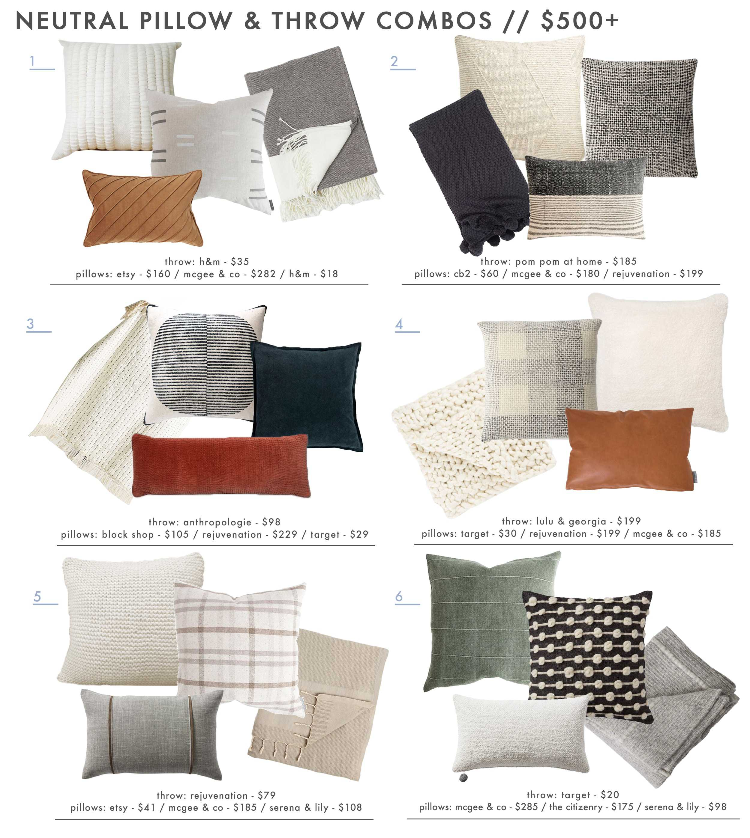 18 Neutral And Textured Pillow Combos 5 Rules For Guaranteed Combo Ing Success Emily Henderson