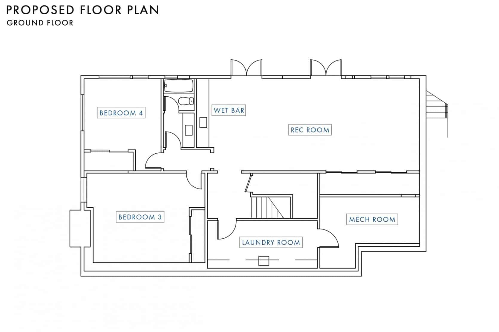 Proposed Floor Plan Ground Floor
