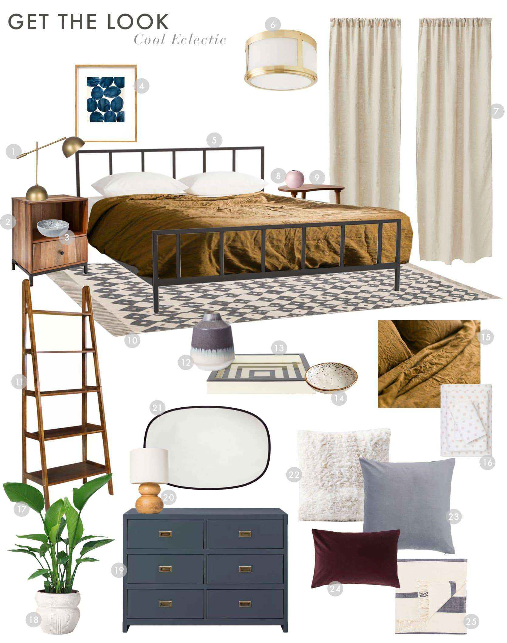 Emily Henderson Budget Room Starter Apartment Bedroom Cool Eclectic 1