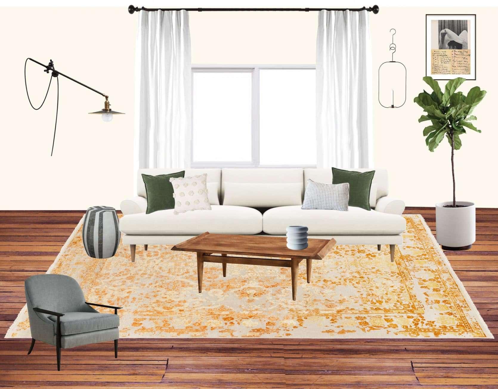 Emily Henderson Jess Moto Living Room Mood Board 1