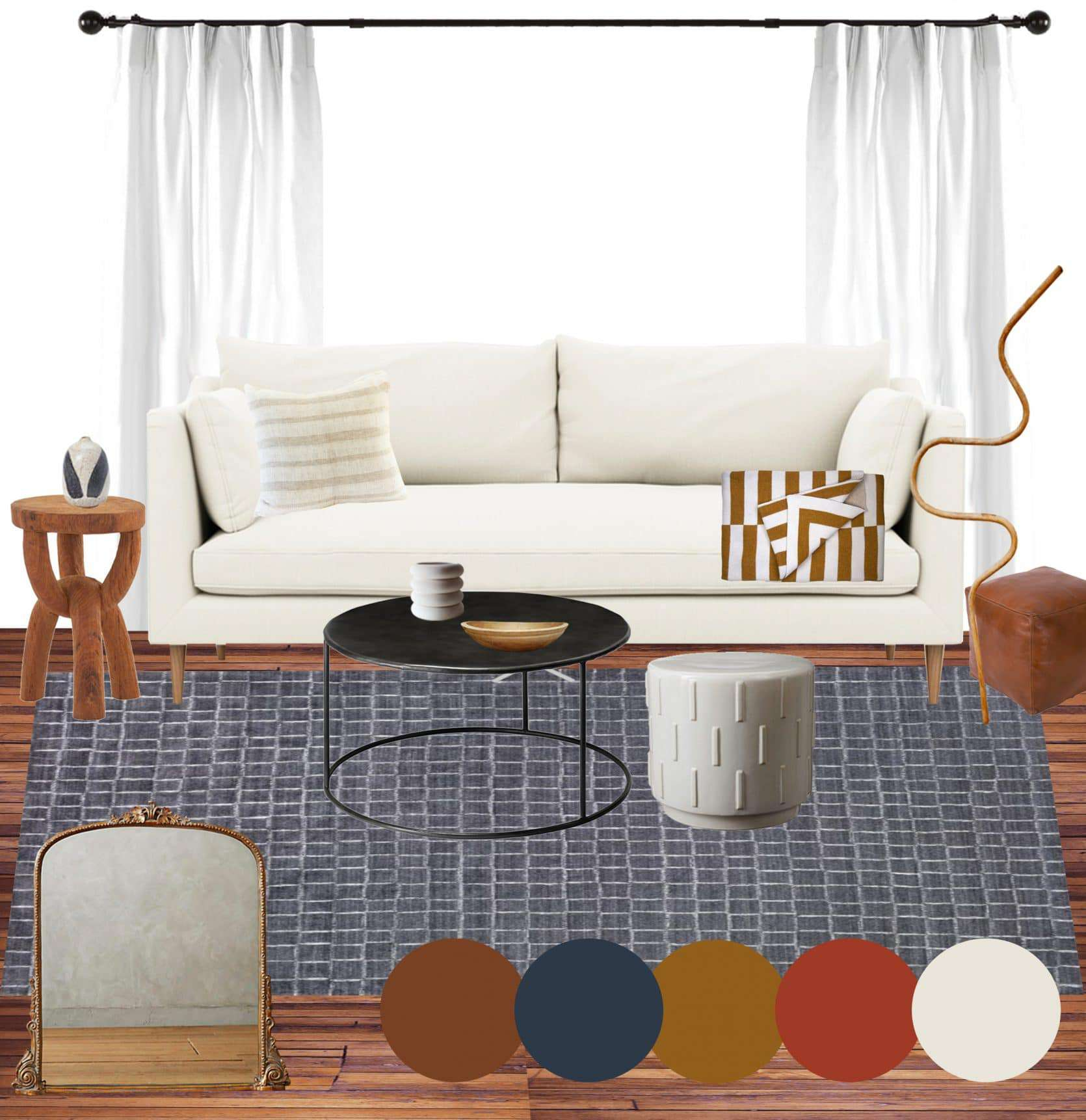 Emily Henderson Jess Moto Living Room Mood Board 3