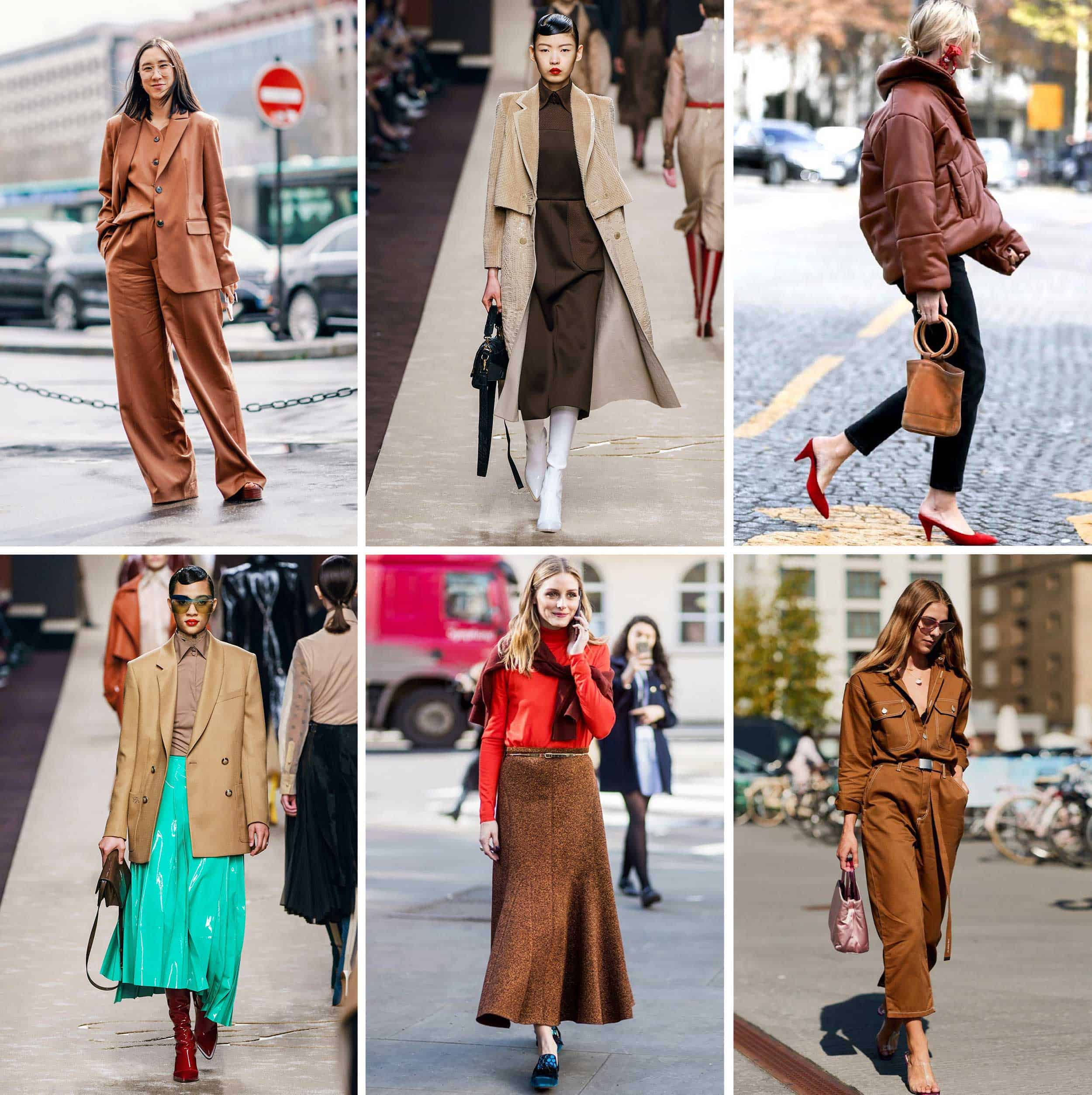 Emily Henderson Brown Color Trend Fashion Grid