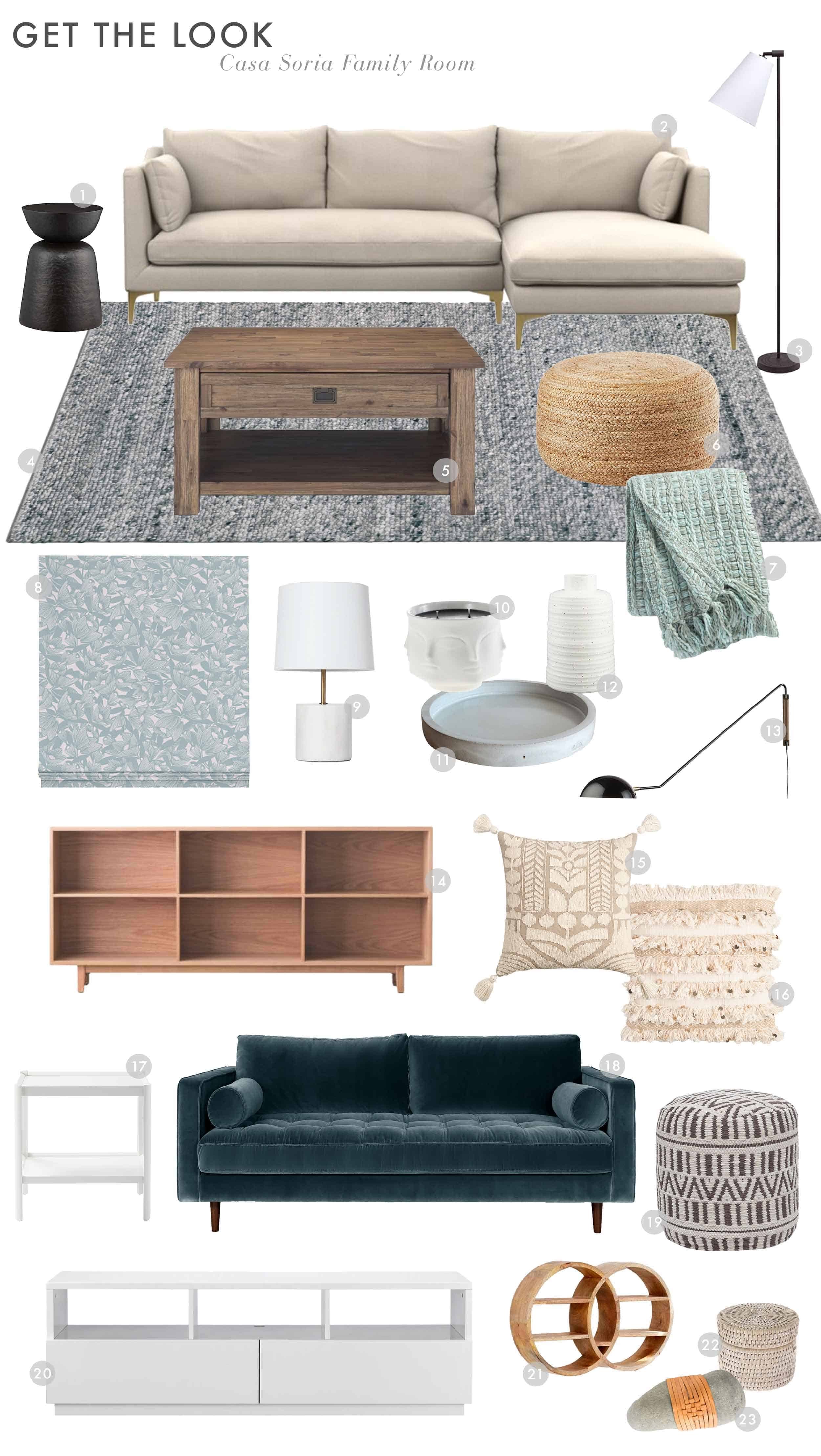 Emily Henderson Orlandos Parents House Family Room Reveal Get The Look