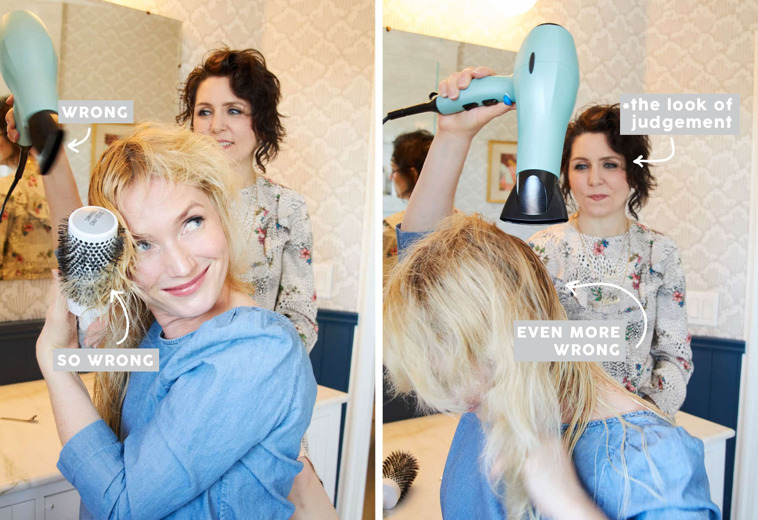 Emily Henderson How To Blow Dry Wrong 1