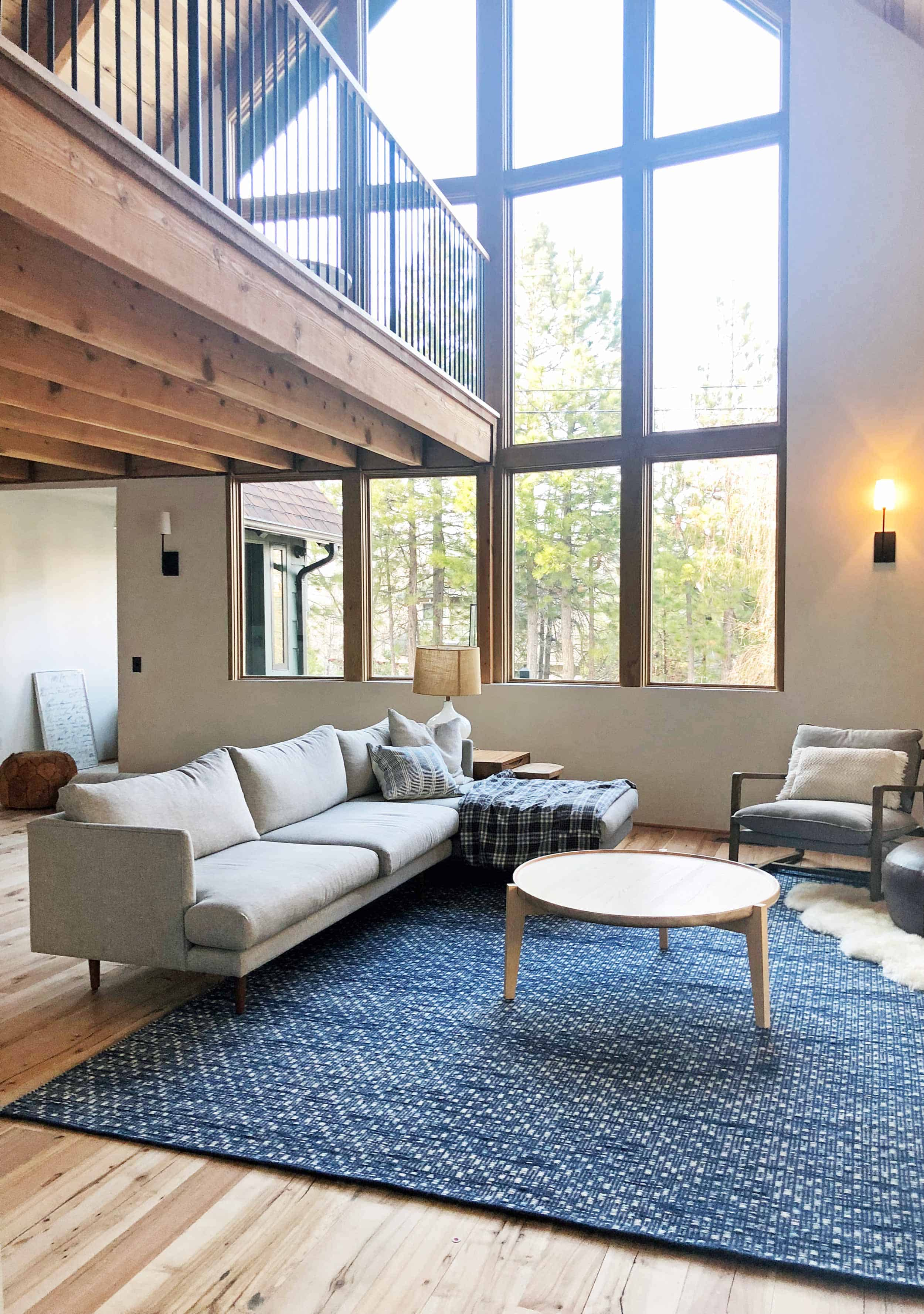 Emily Henderson Mountain House Living Room Rugsectional View