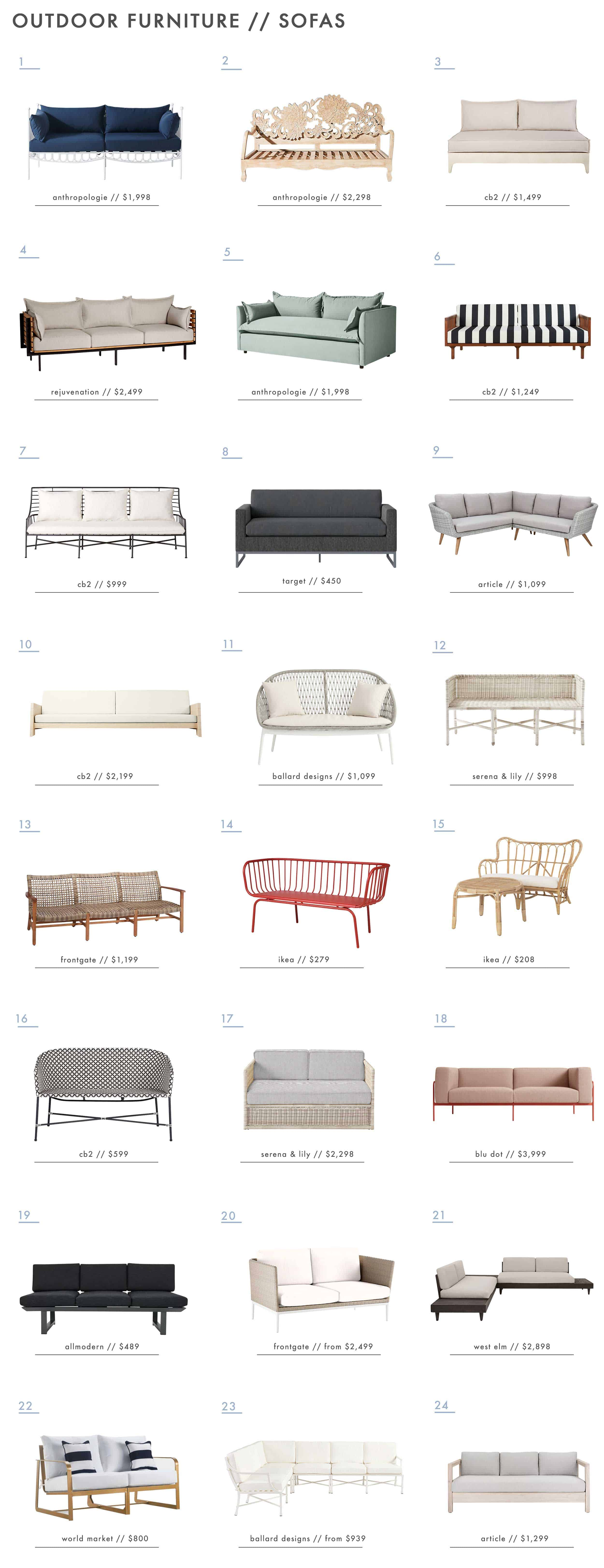 Emily Henderson Outdoor Furniture Outdoor Sofas Sectionals New