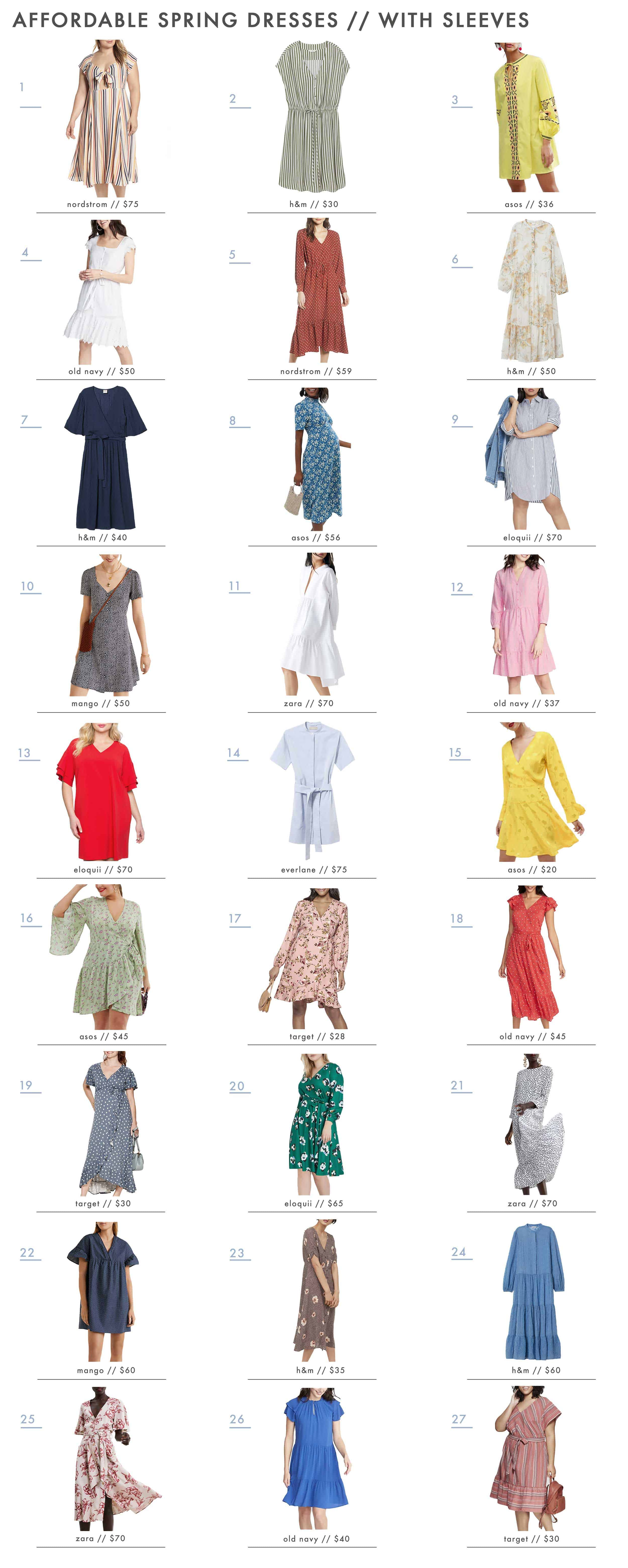 Emily Henderson Affordable Spring Dresses With Sleeves New