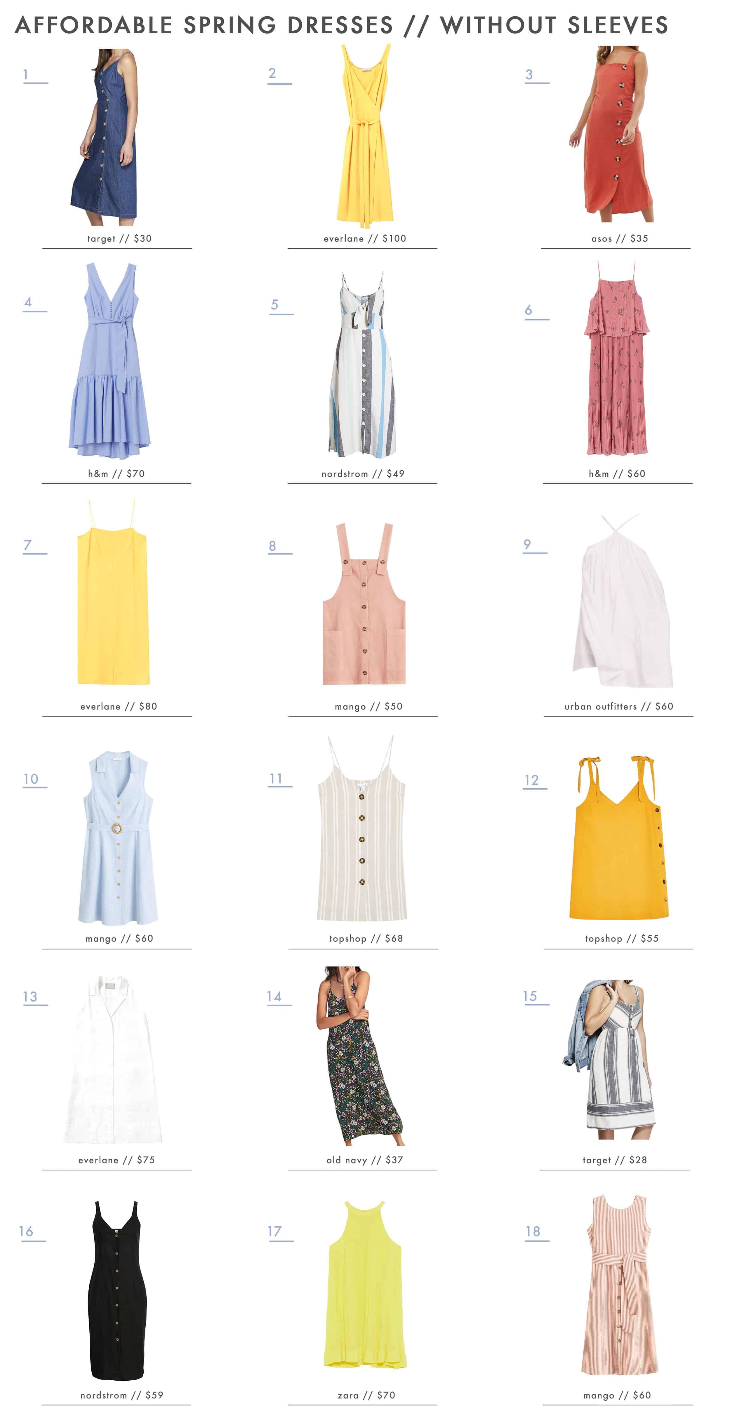 Emily Henderson Fashion Affordable Spring Dresses Sleeveless1