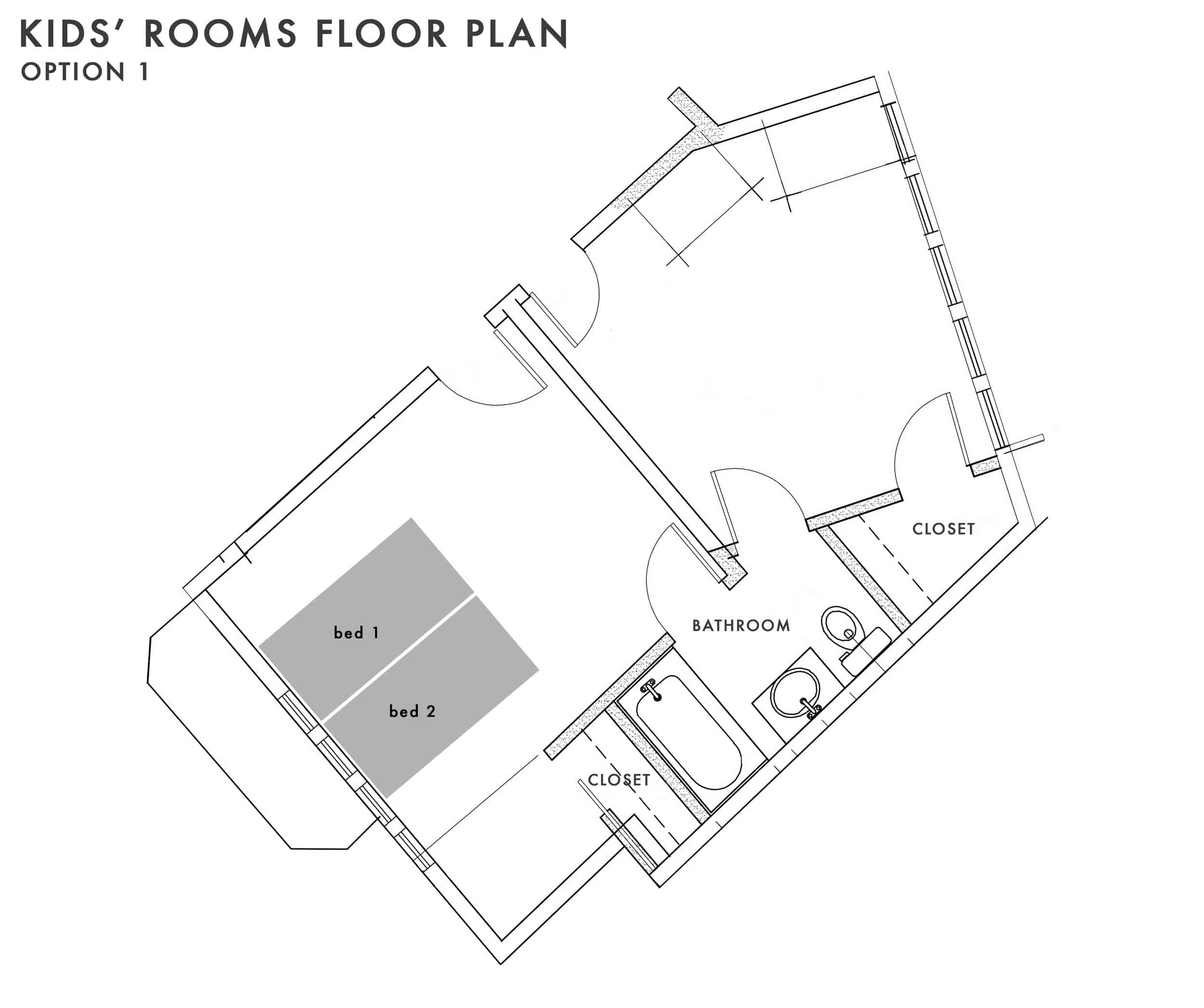 Emily Henderson Kids Floor Plan Option 1