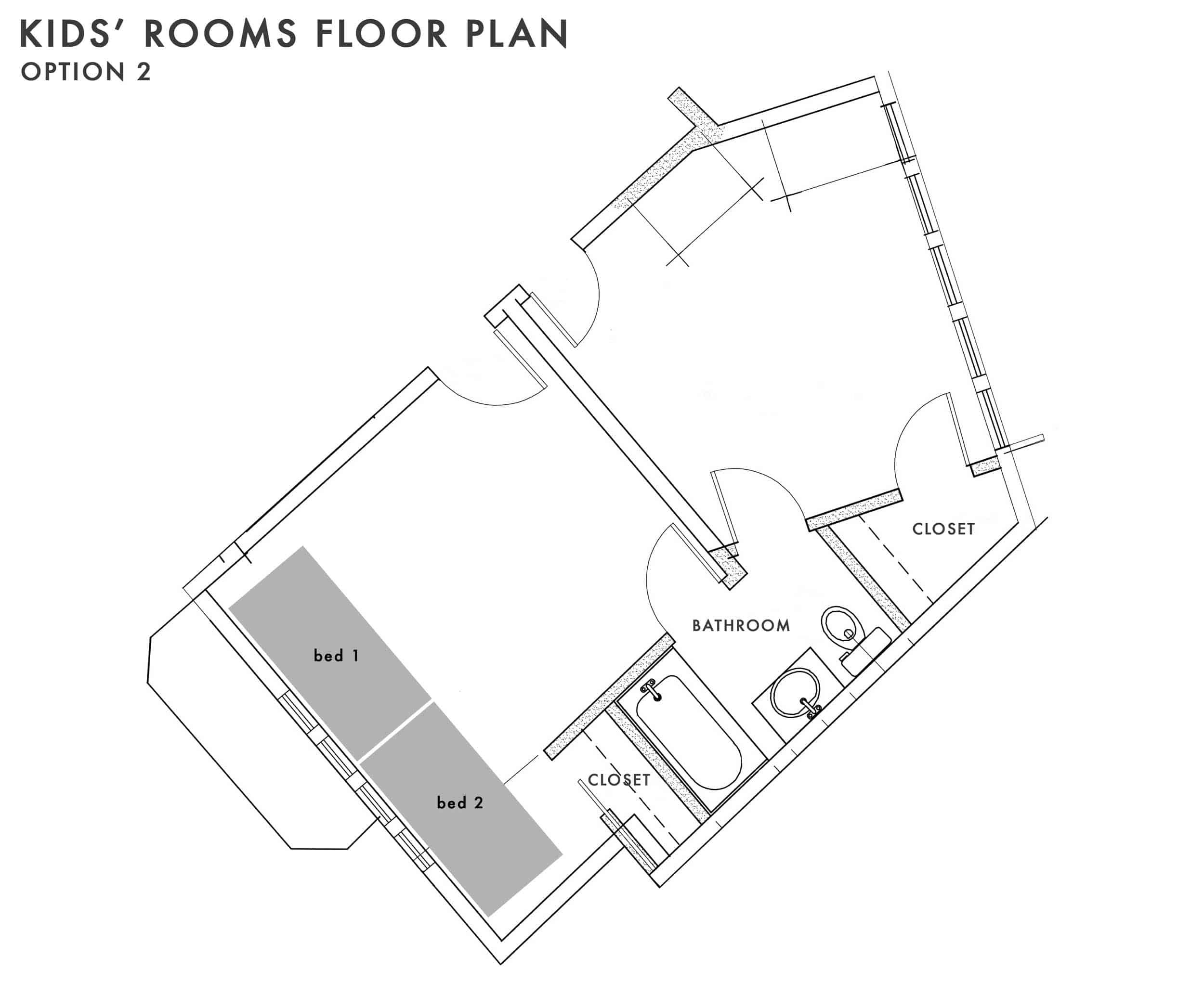 Emily Henderson Kids Floor Plan Option 2